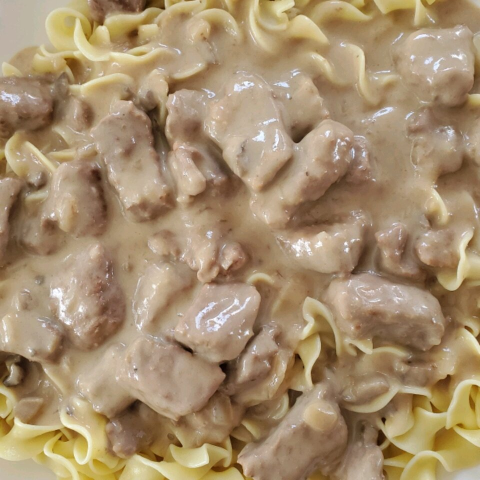 creamy beef tips with egg noodles recipe