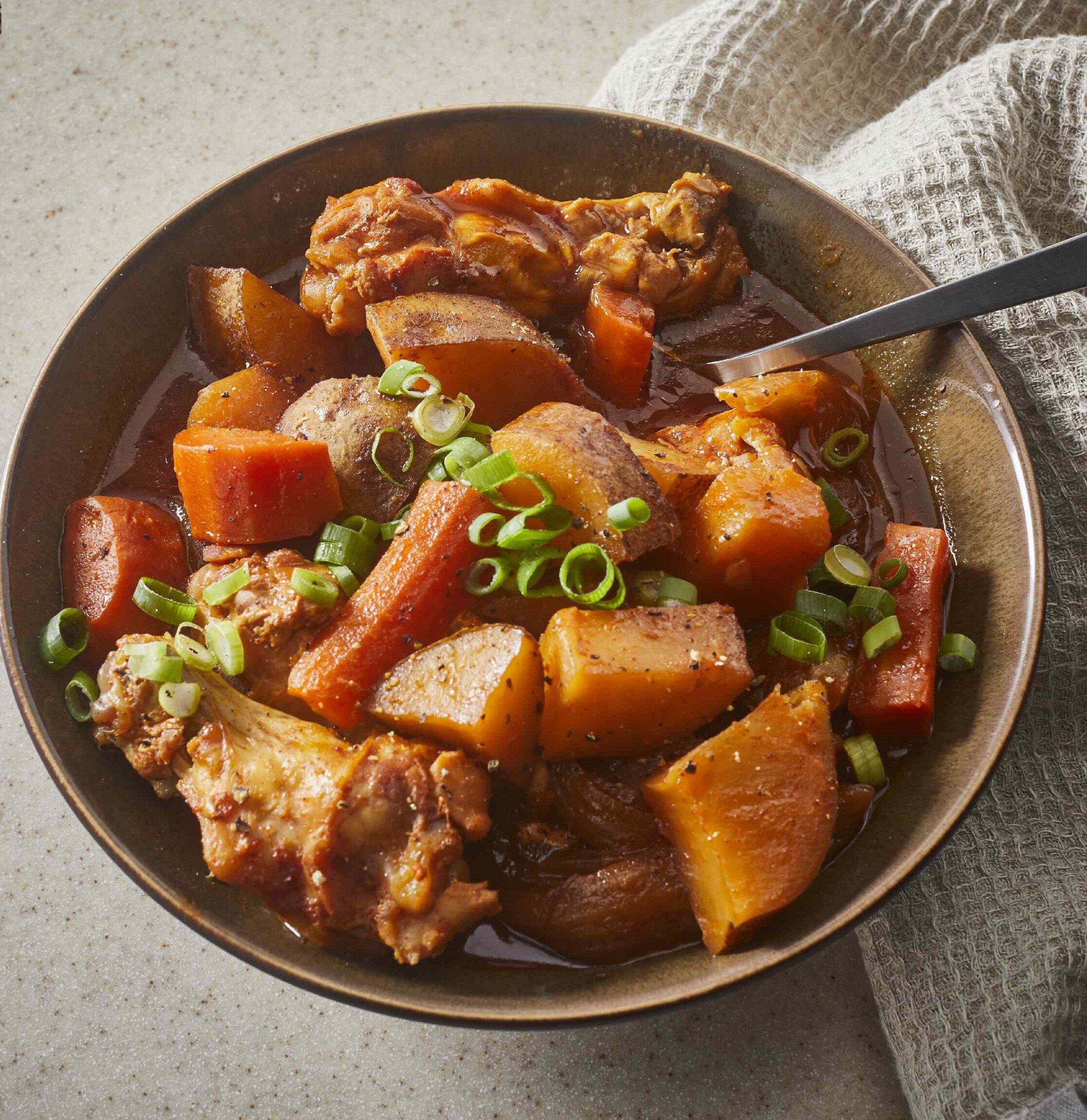 korean spicy chicken and potato tak toritang recipe