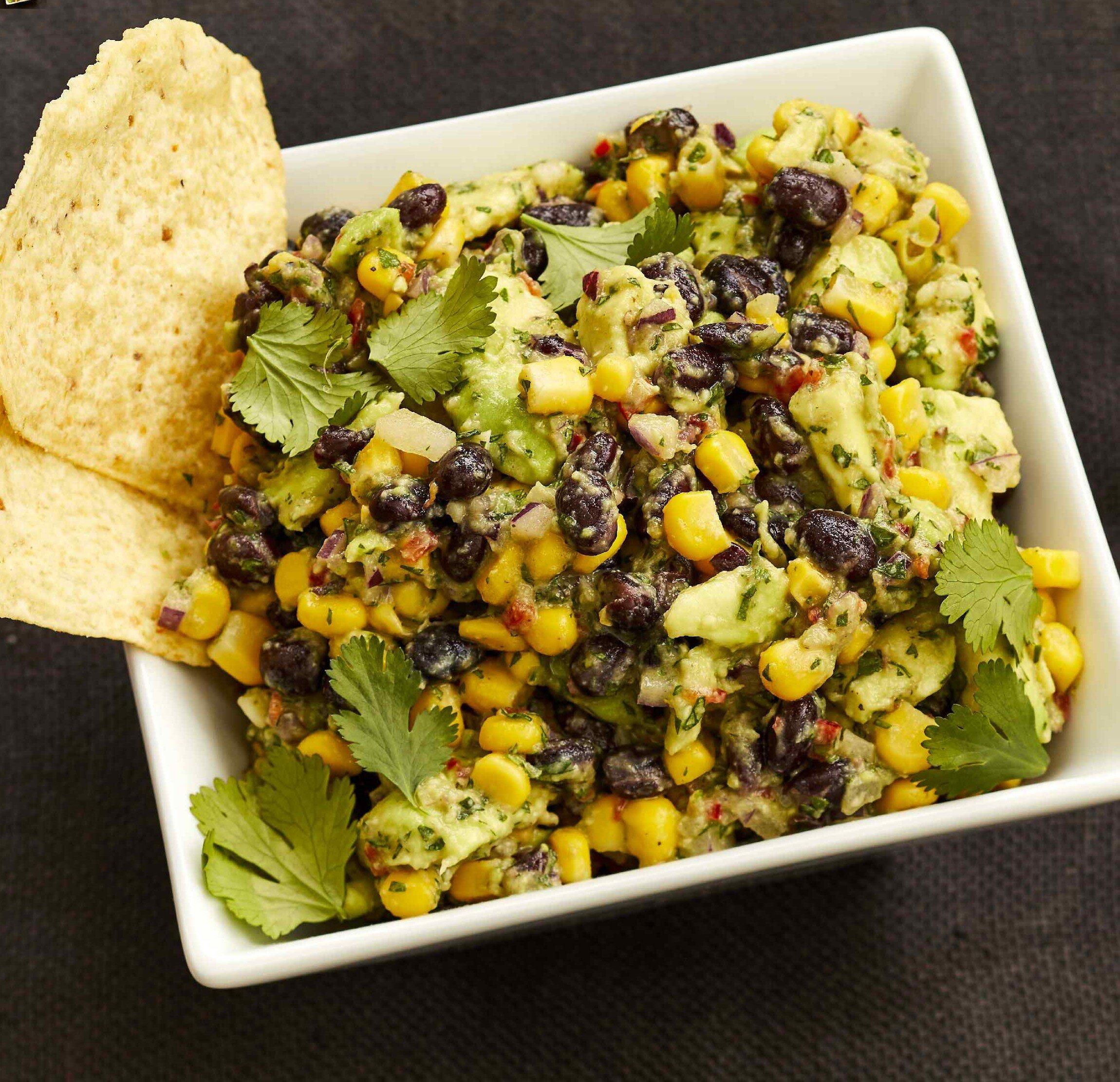 corn and black bean guacamole recipe