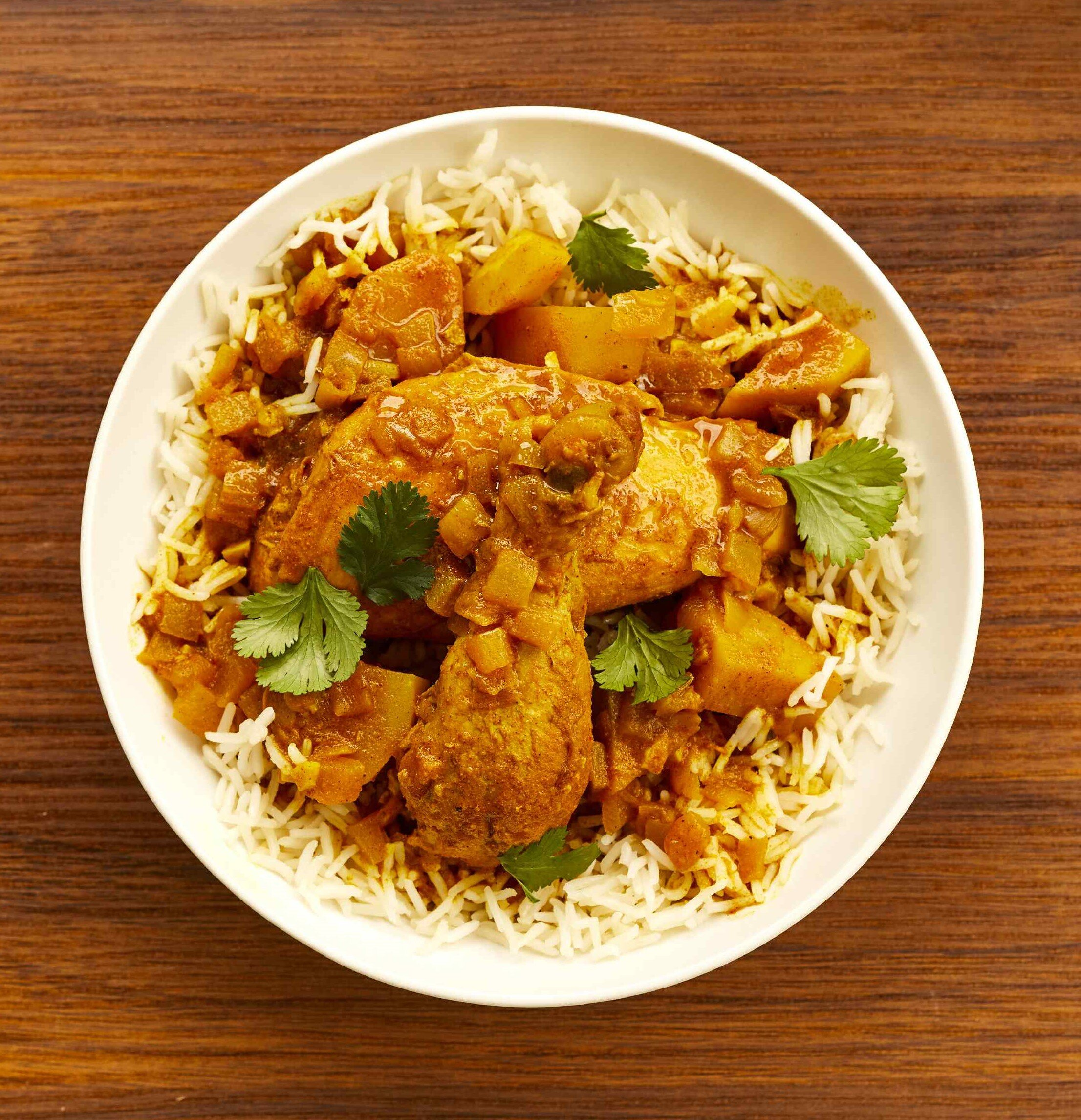 chicken curry and potatoes recipe