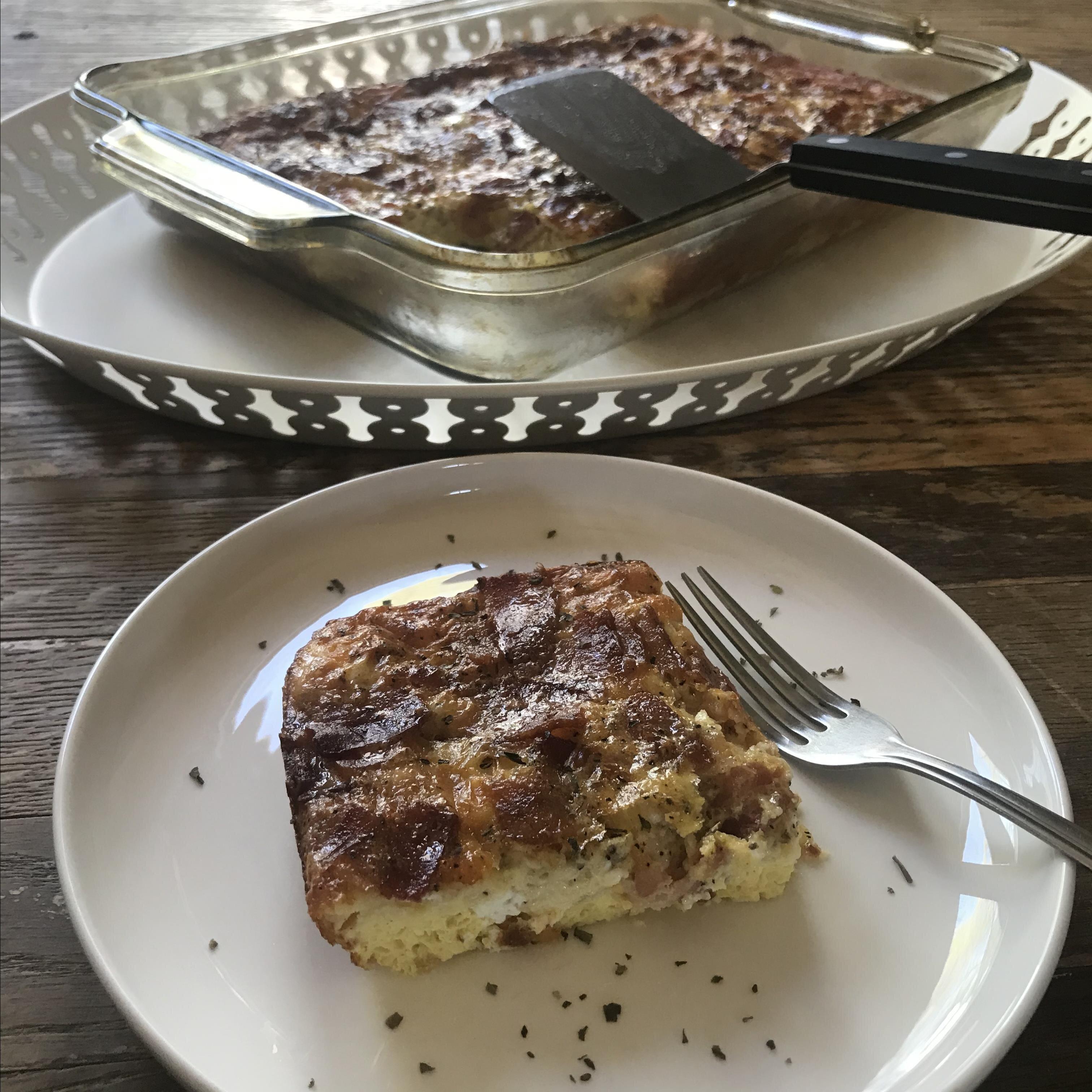 breakfast casserole with bacon recipe