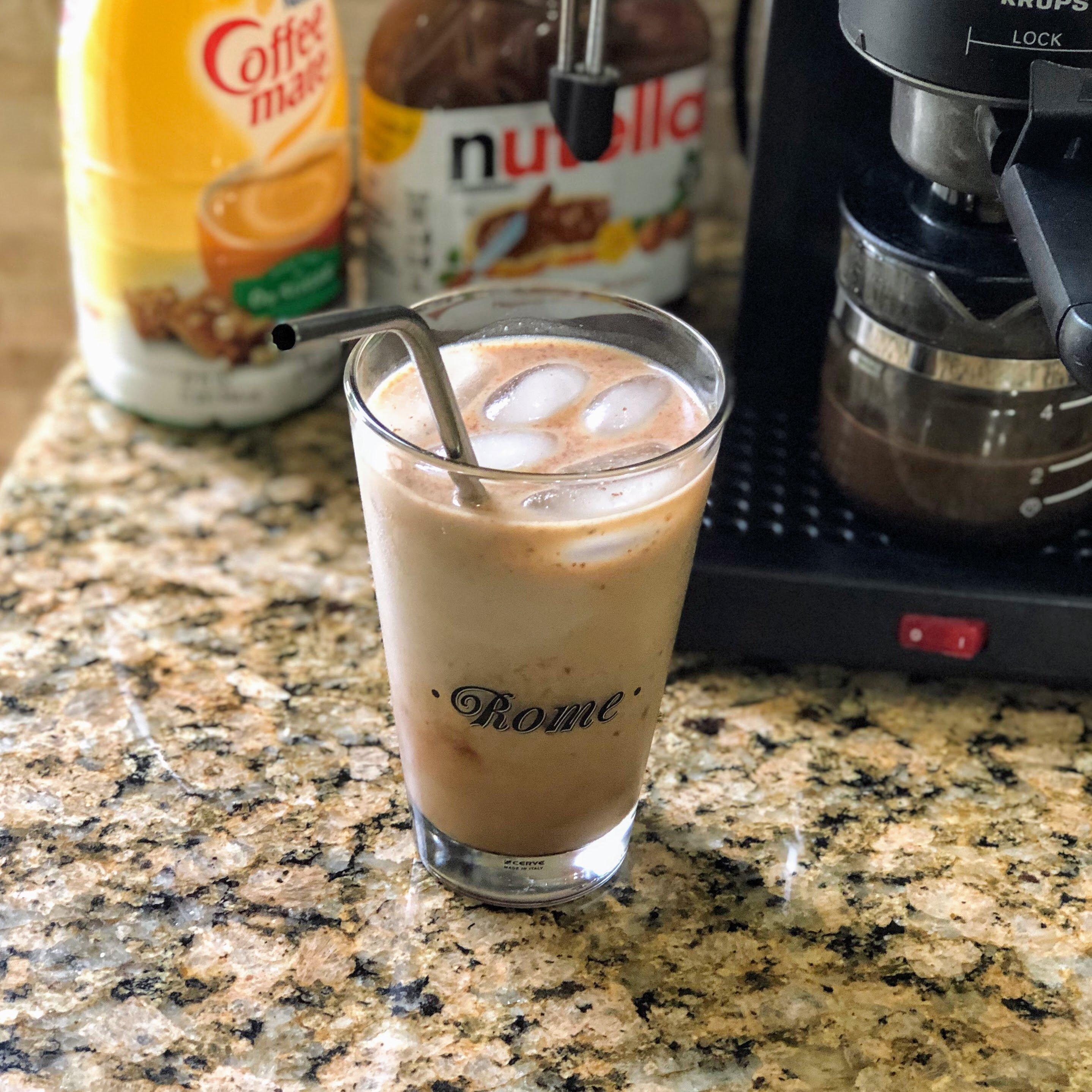 iced almond milk nutella latte recipe