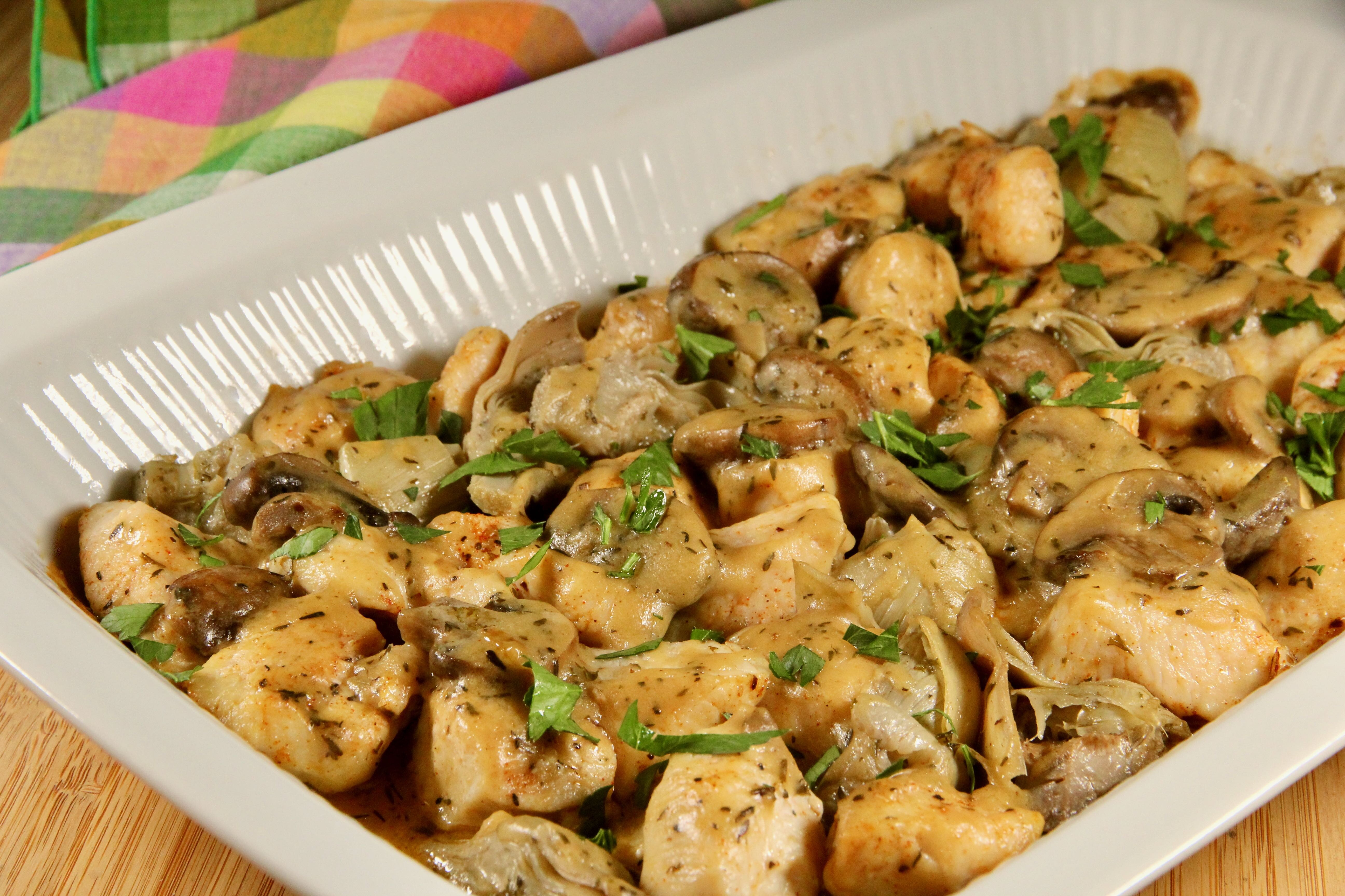 Chicken with Artichokes and Mushrooms