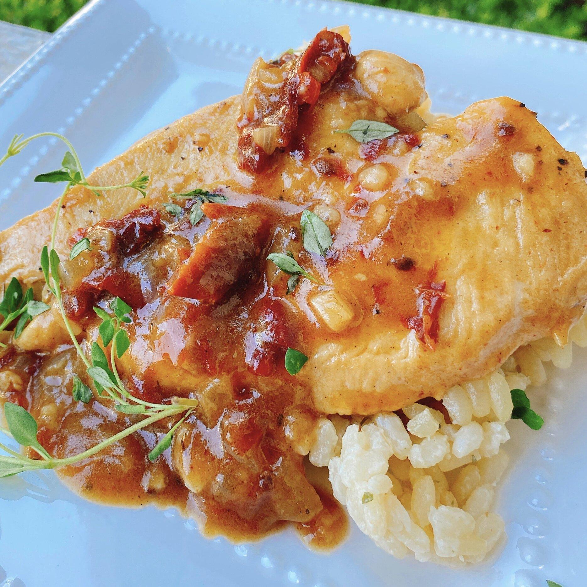 skillet chicken in creamy sun dried tomato sauce recipe