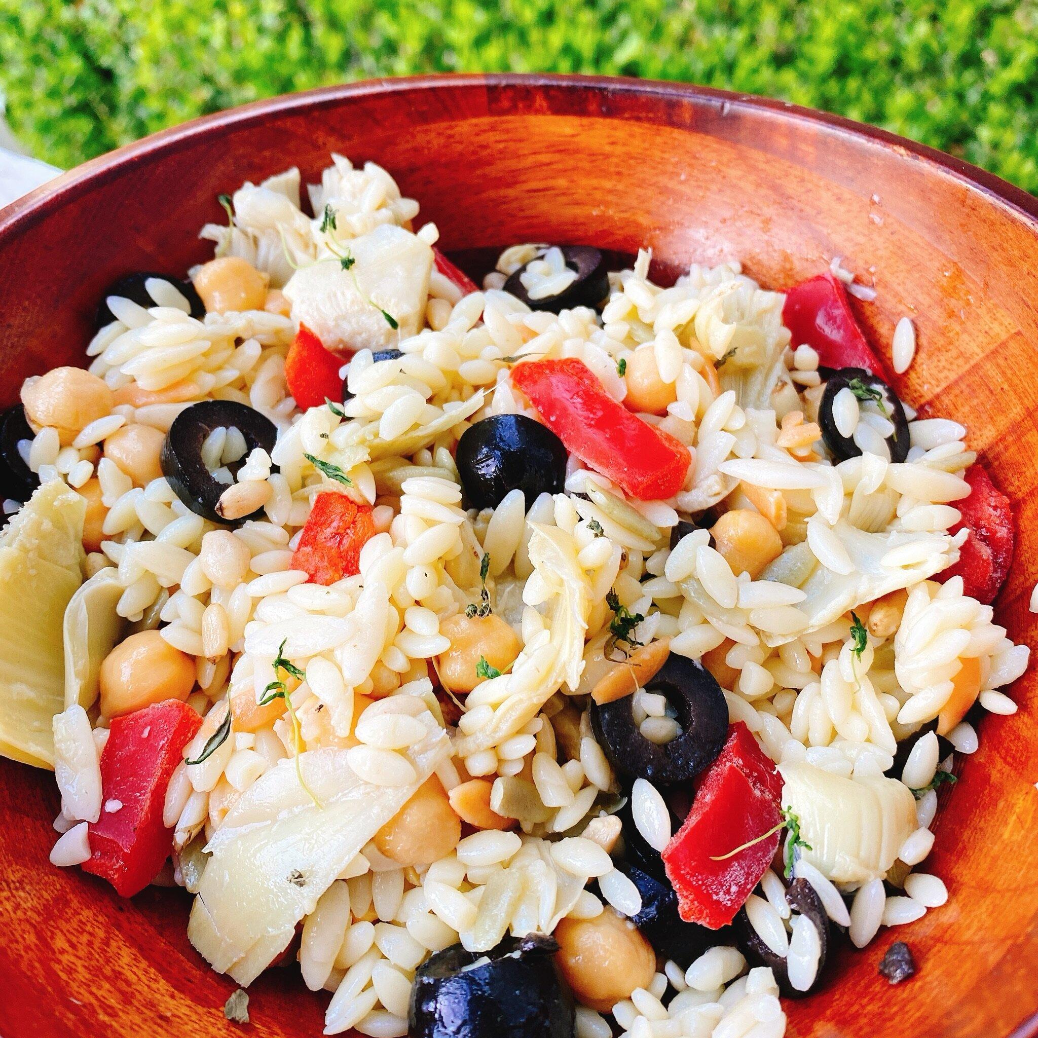 easy mediterranean orzo salad