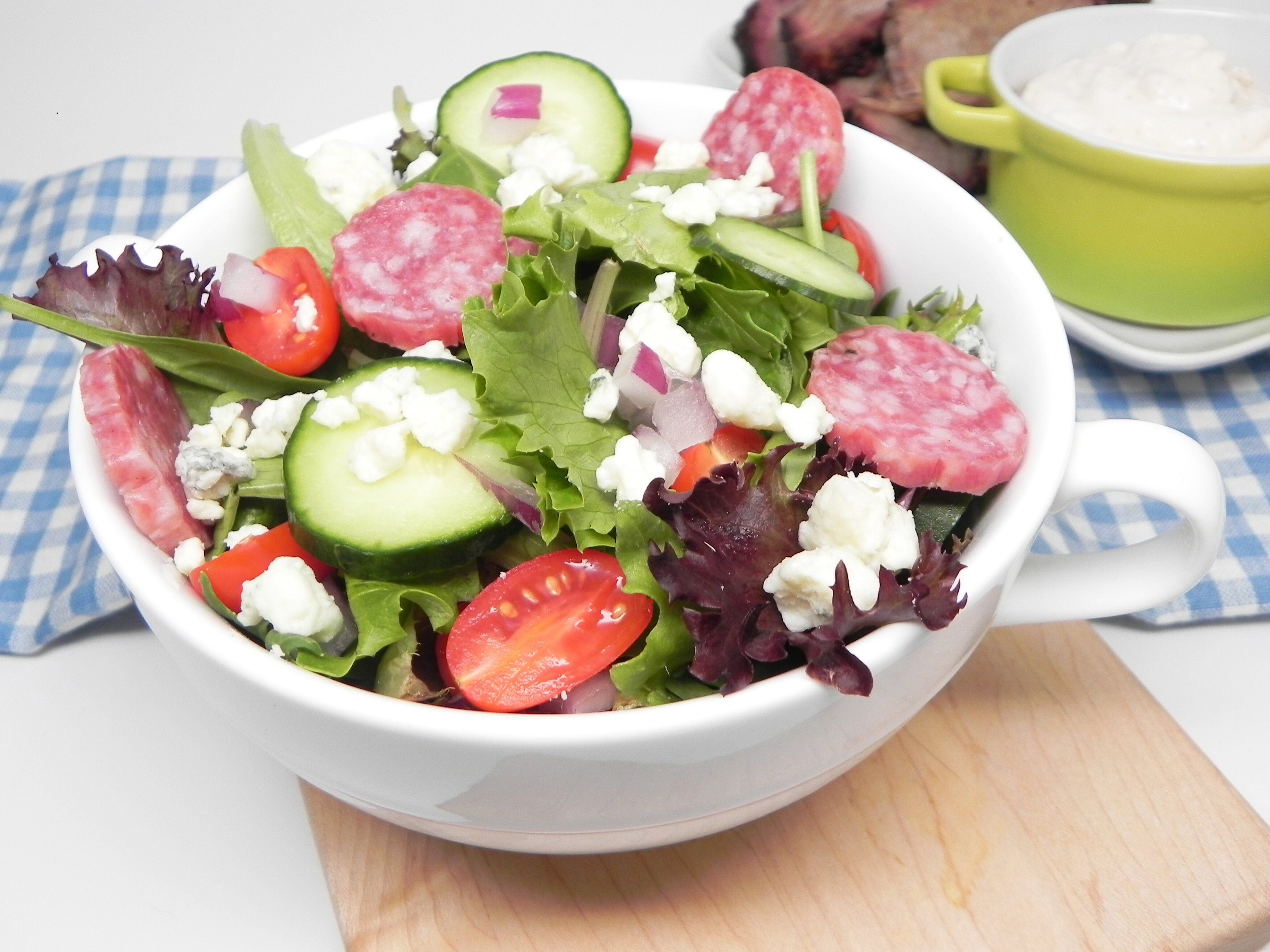 basic keto summer salad recipe