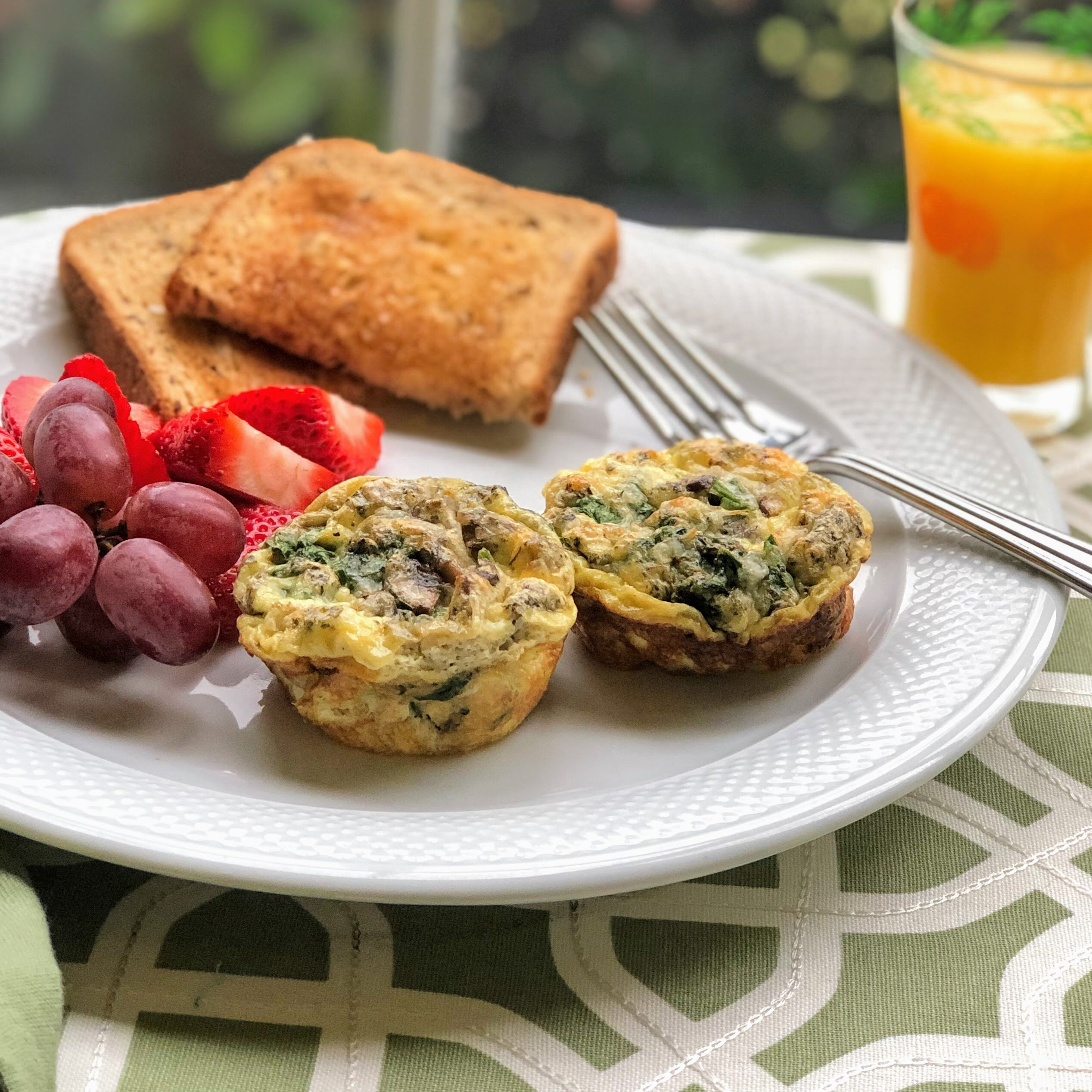 veggie egg muffins with spinach and mushrooms recipe