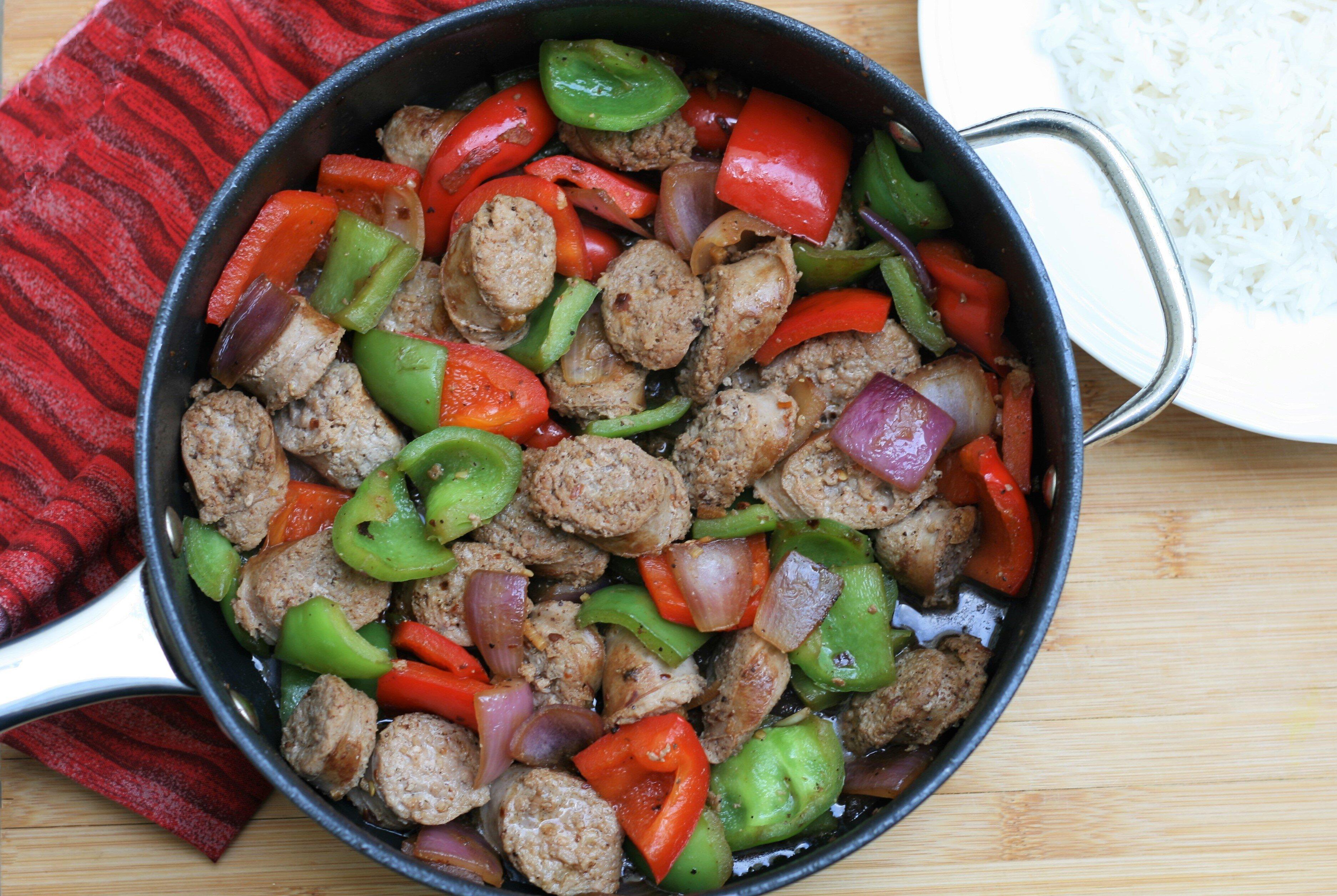 turkey sausage and pepper skillet