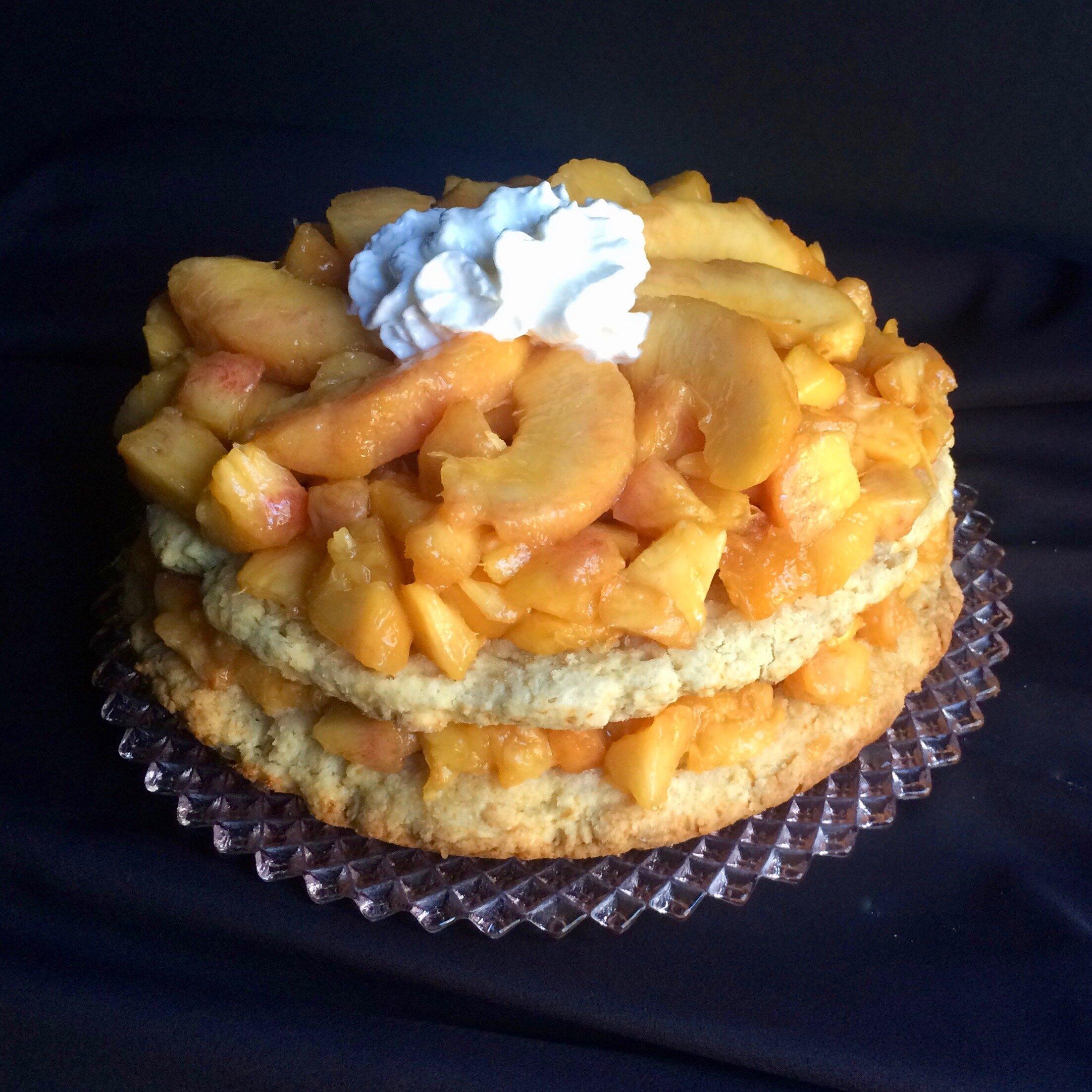 southern peach shortcake