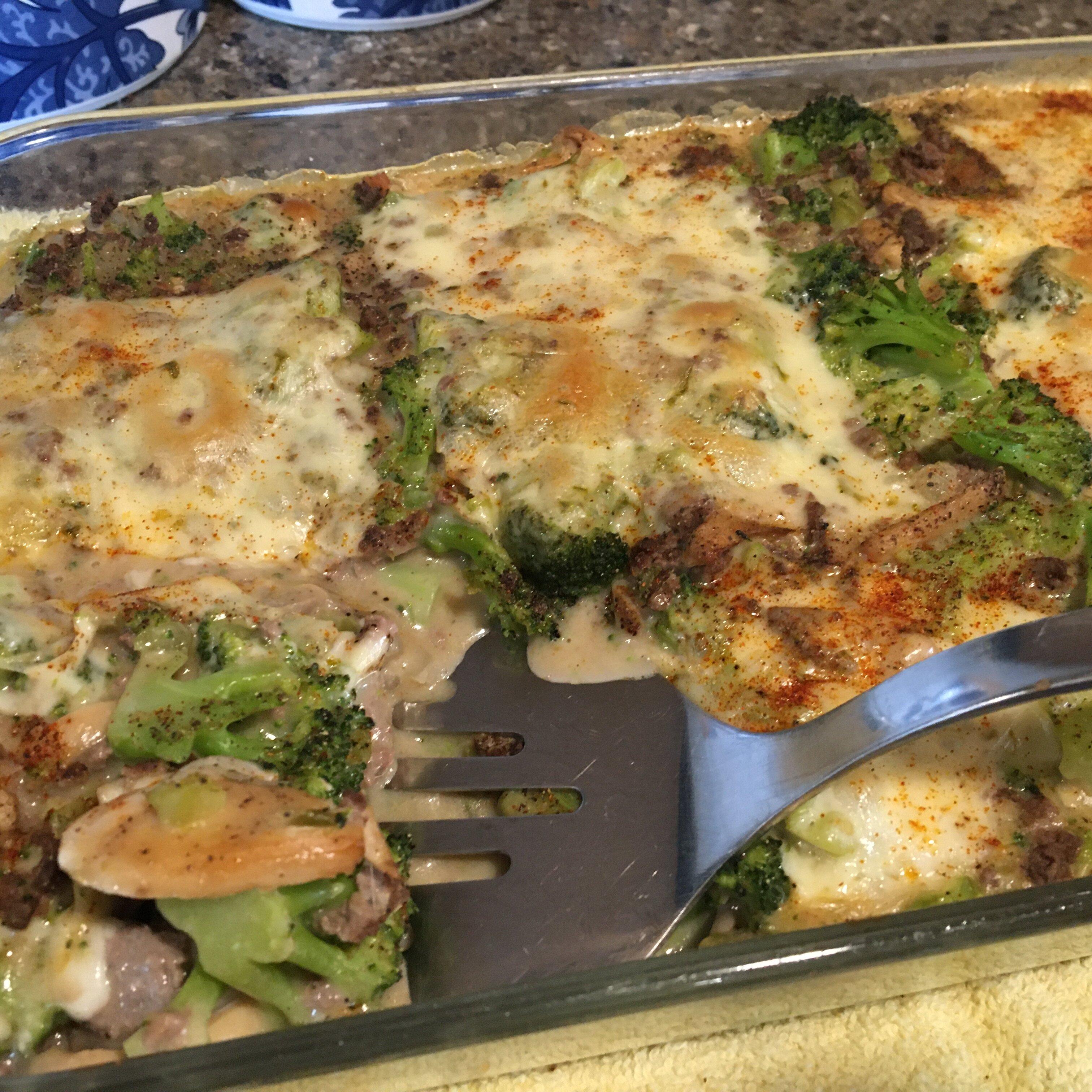 broccoli hamburger casserole recipe