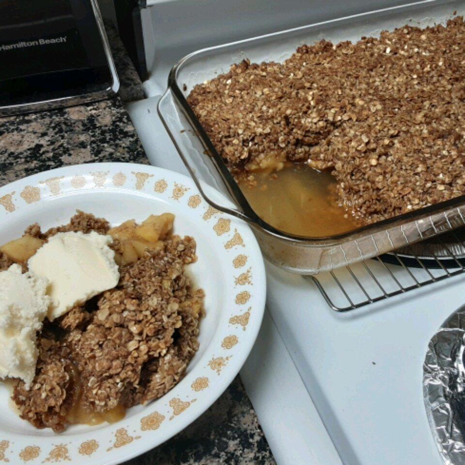 simple flourless apple crisp recipe