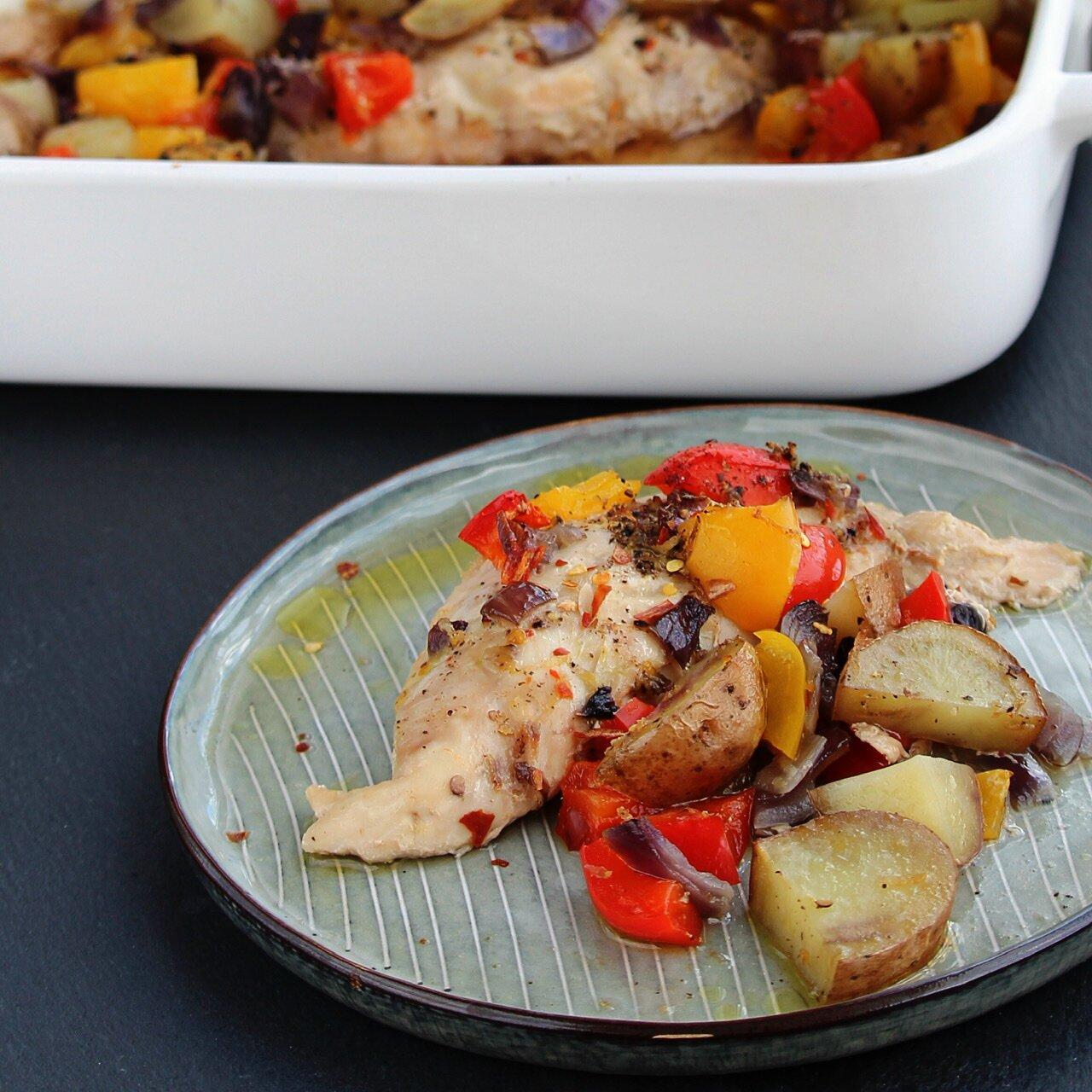 lemon pepper chicken and potatoes