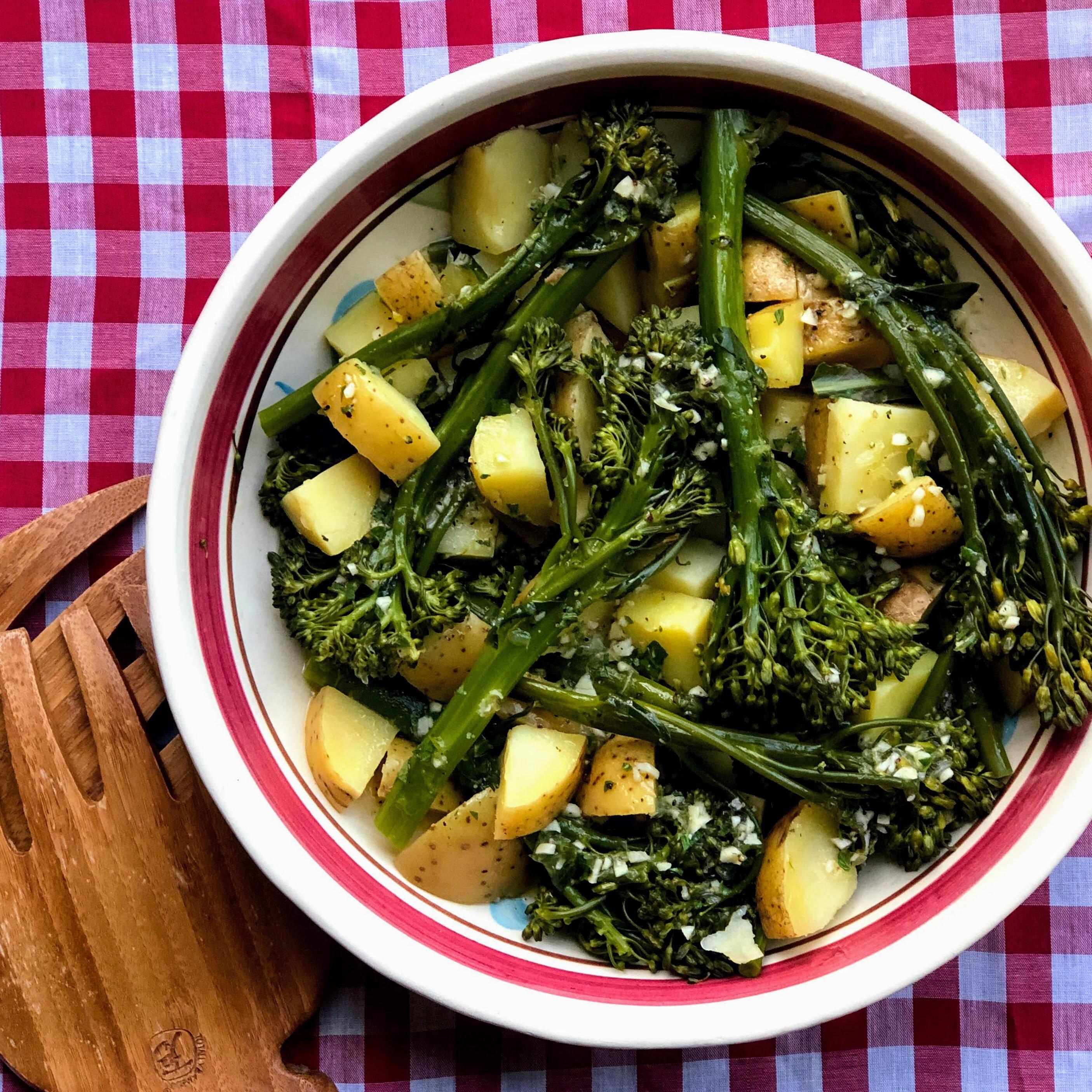 instant pot broccolini and potato salad