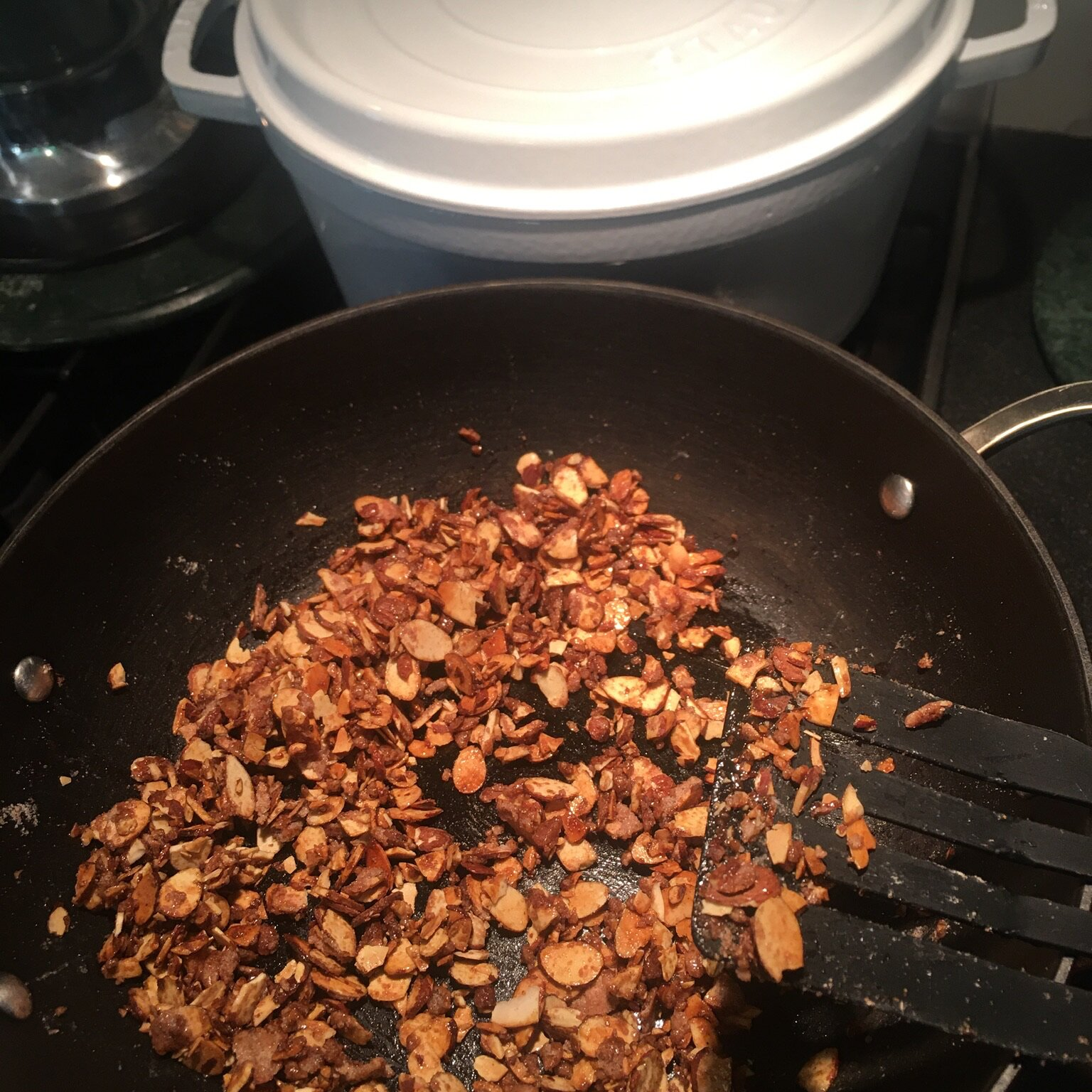 sugared toasted almond salad topping recipe