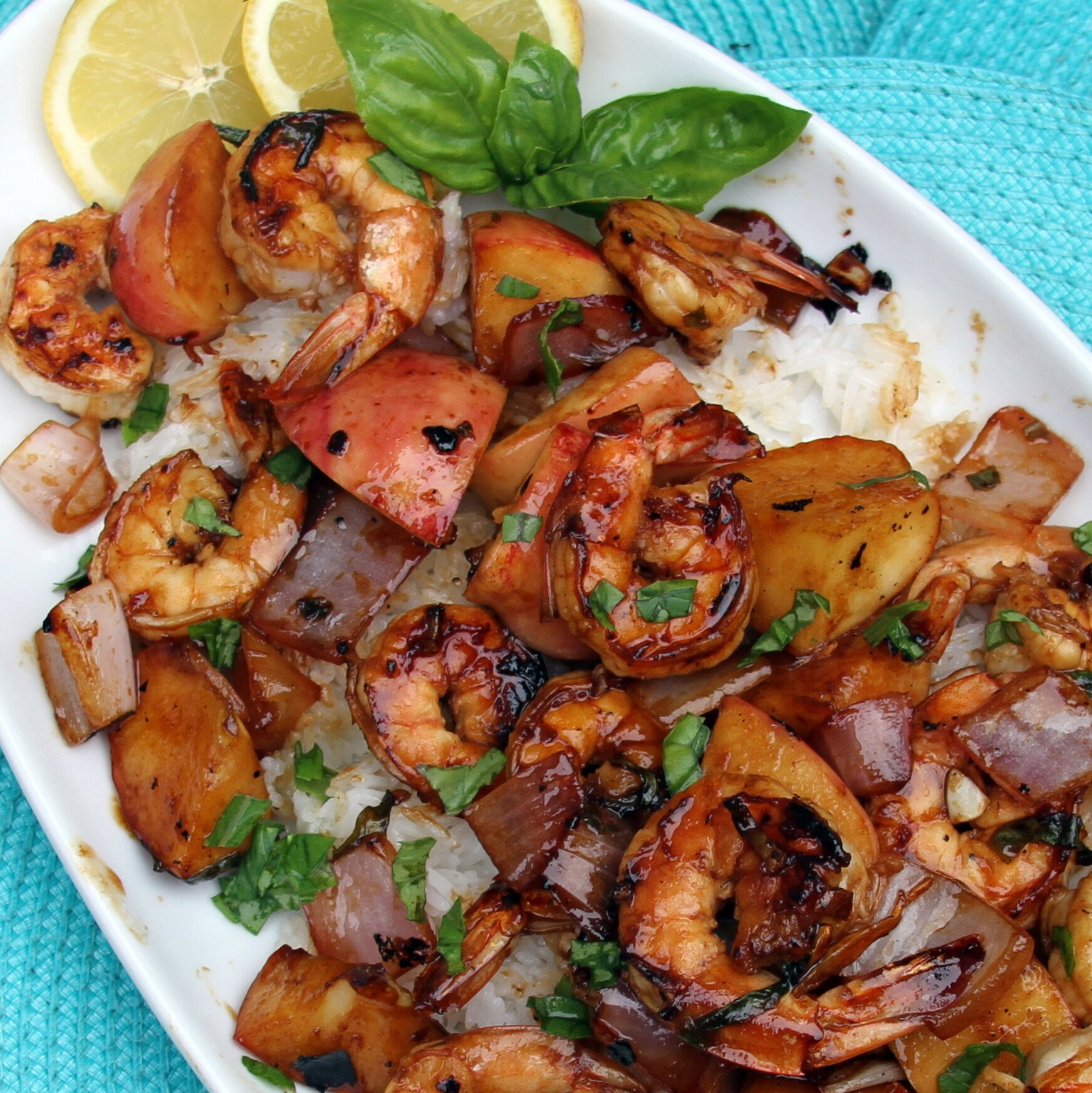 grilled shrimp and apple skewers recipe