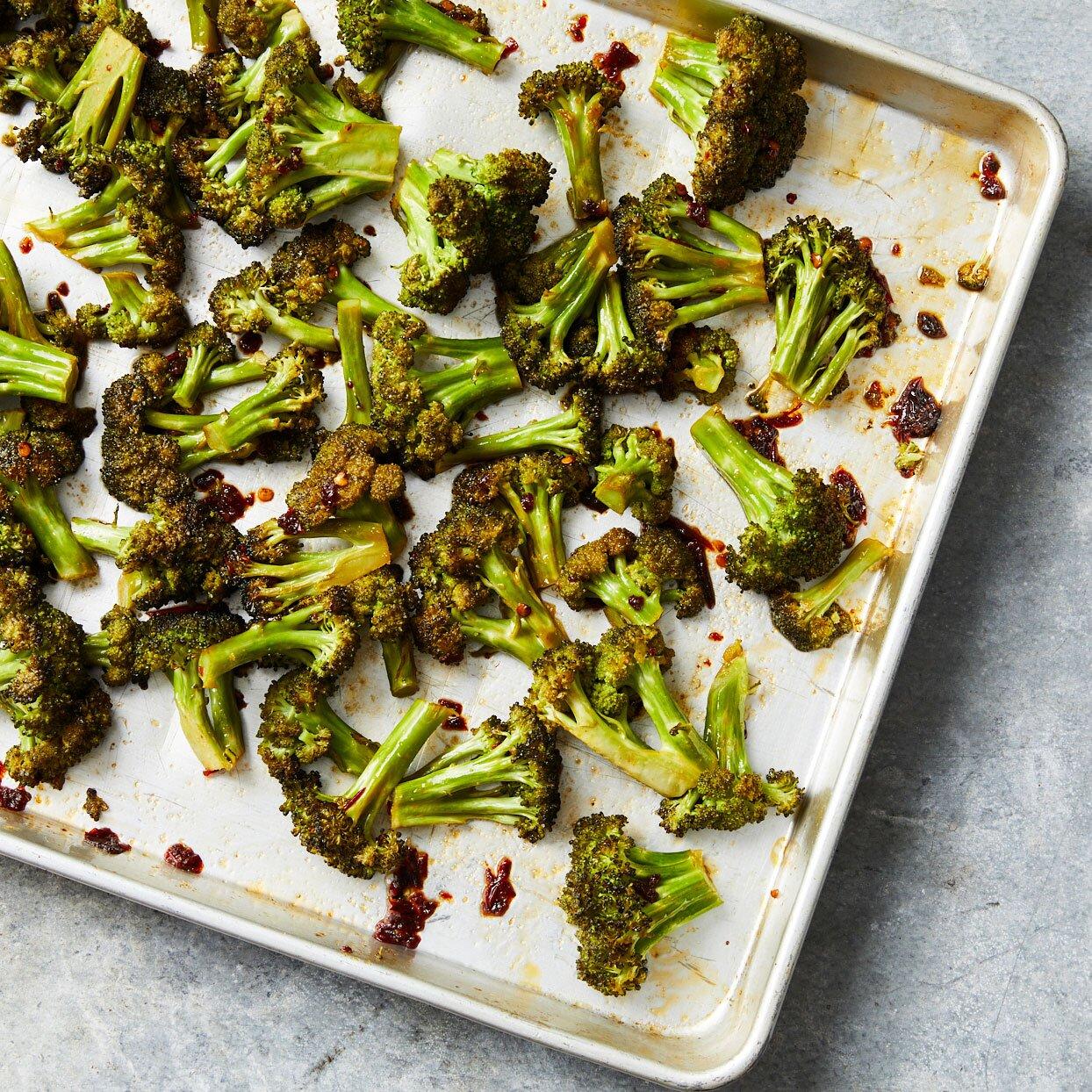 Honey-Chipotle Roasted Broccoli