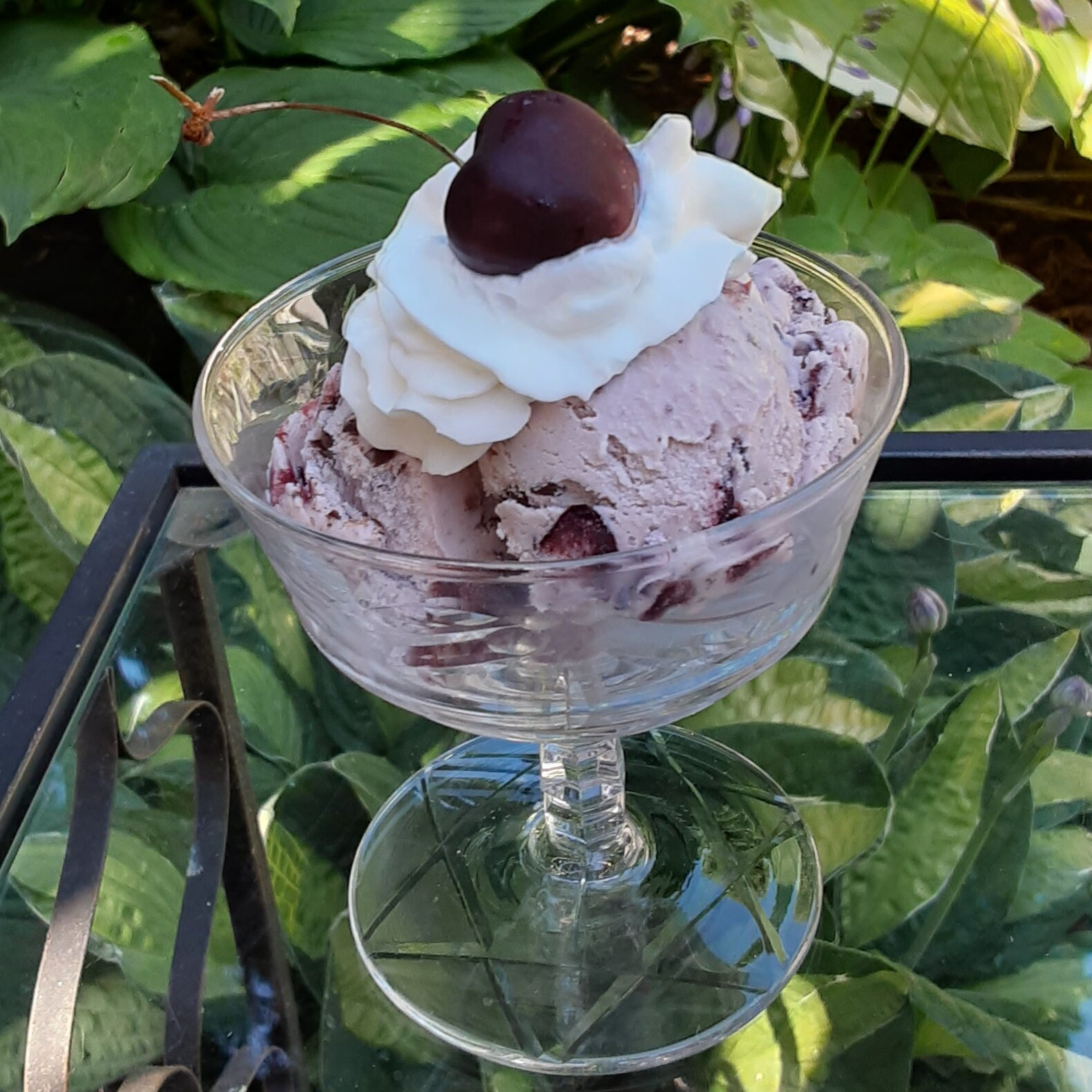 Easy Cherry-Chocolate Chunk Ice Cream