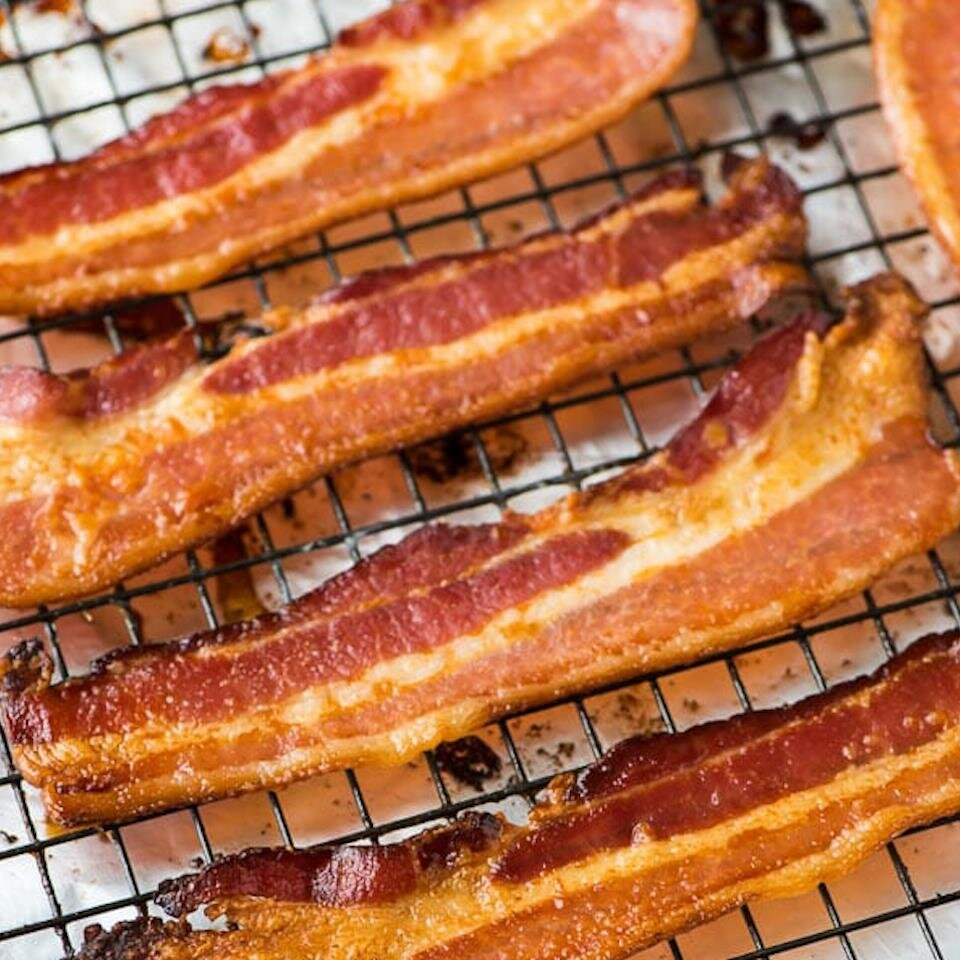 thick cut bacon in the oven