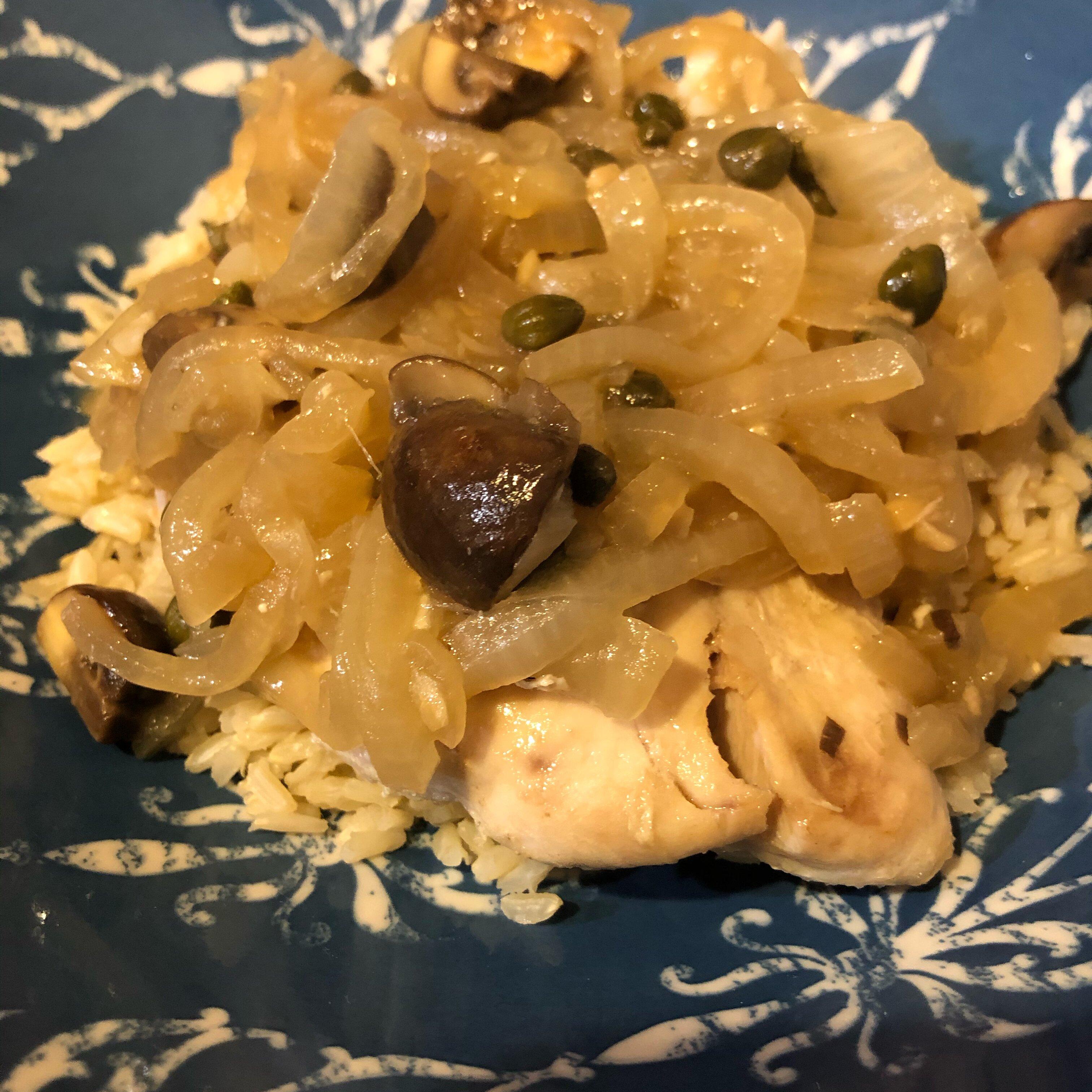 mahi mahi with onions and mushrooms recipe