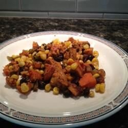 mexican inspired sweet potato hash
