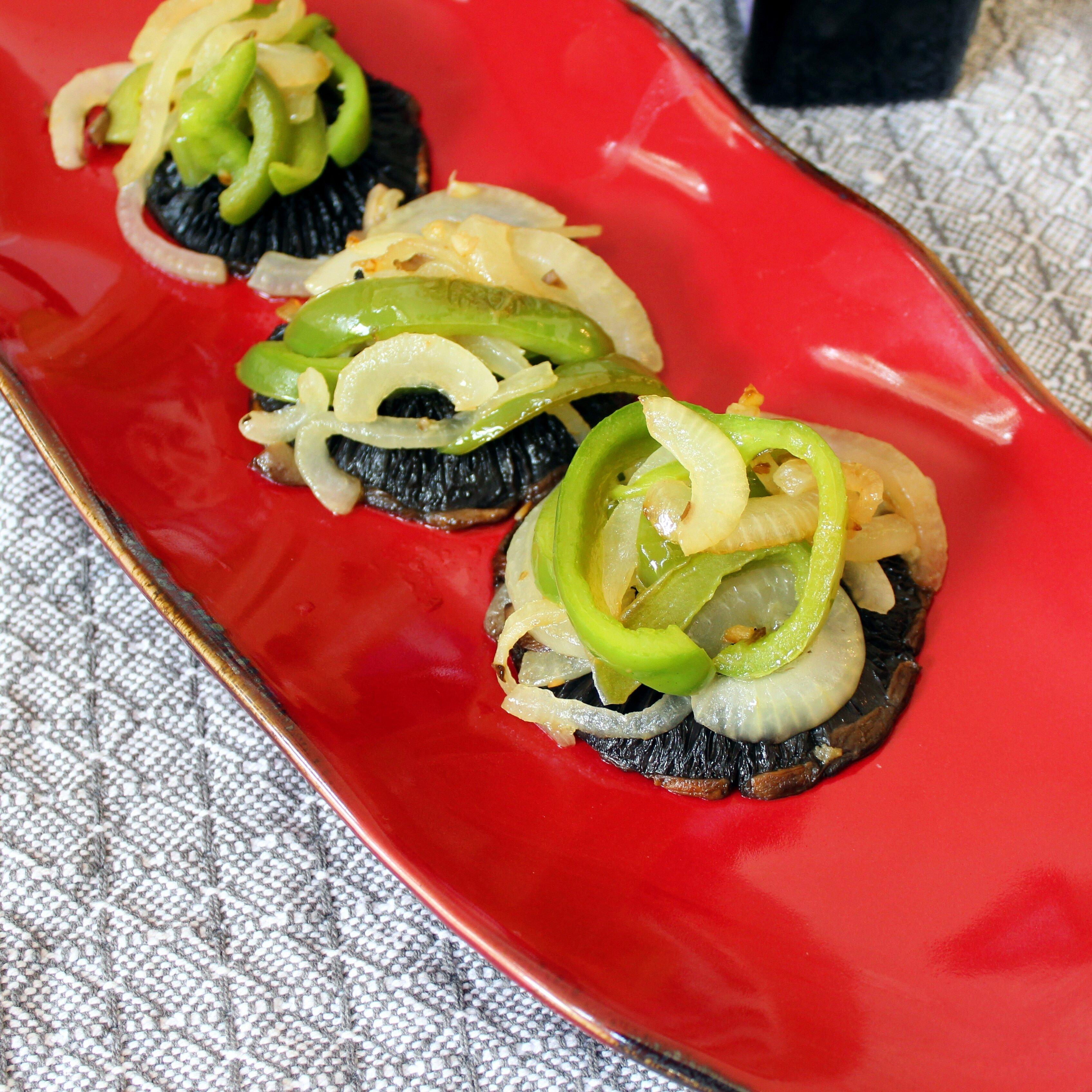 portobello mushroom caps and veggies recipe