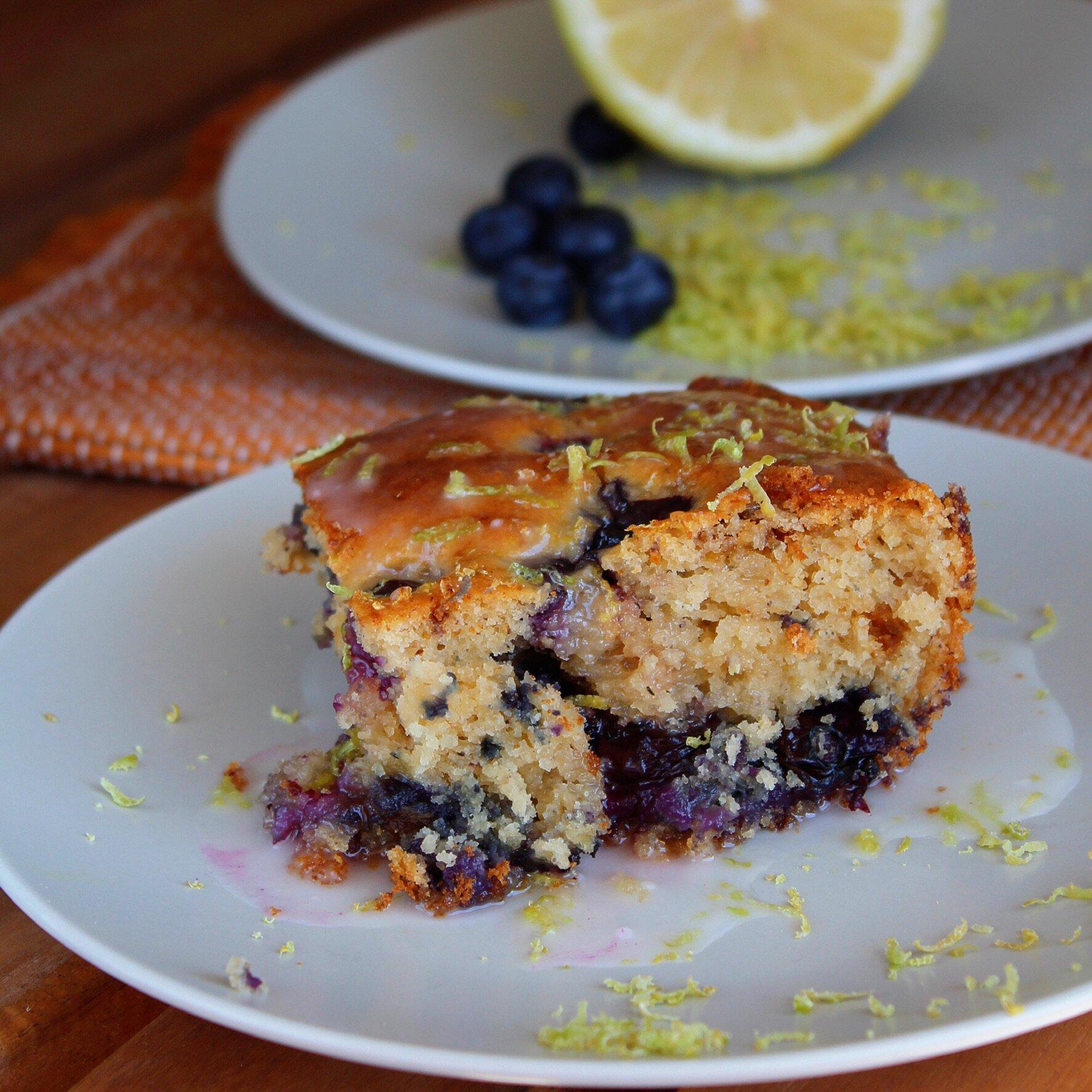 lemon yogurt cake with blueberries recipe