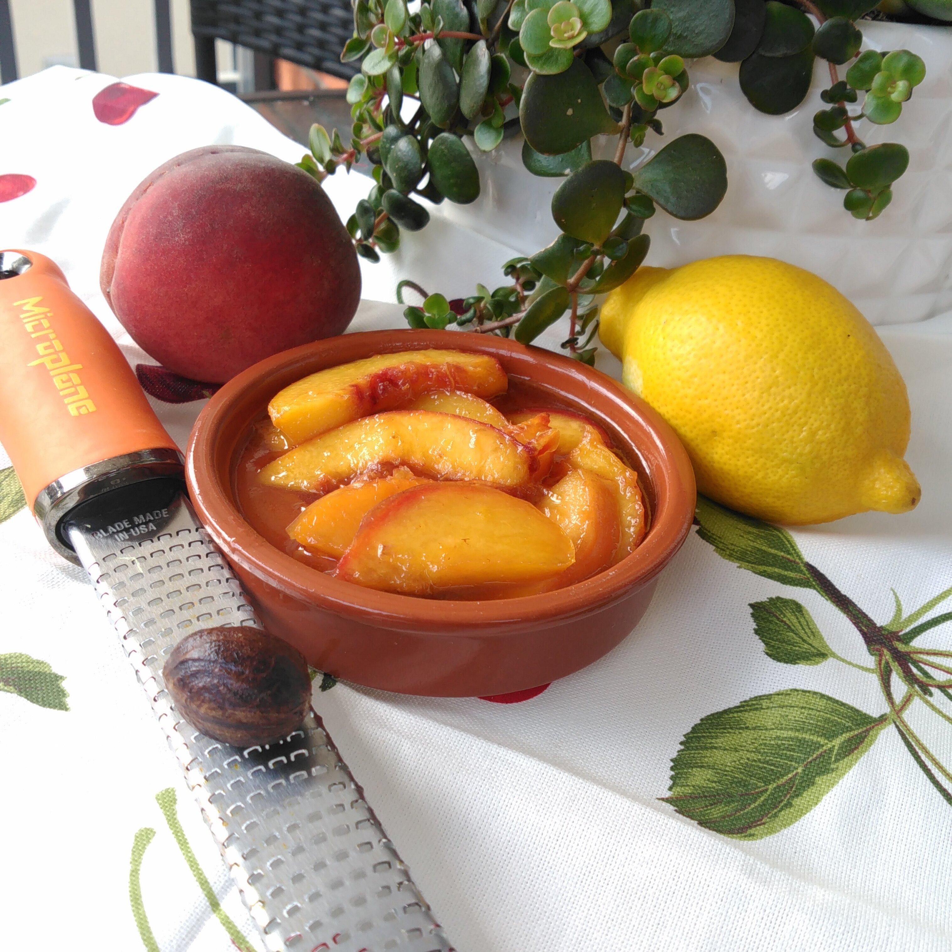 maple peach ice cream topping
