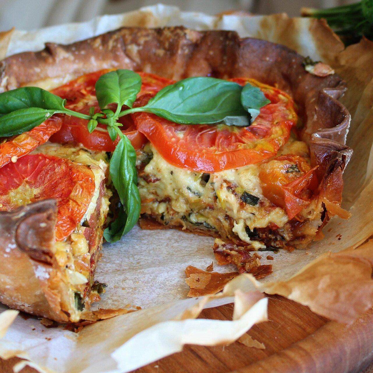 amish tomato pie
