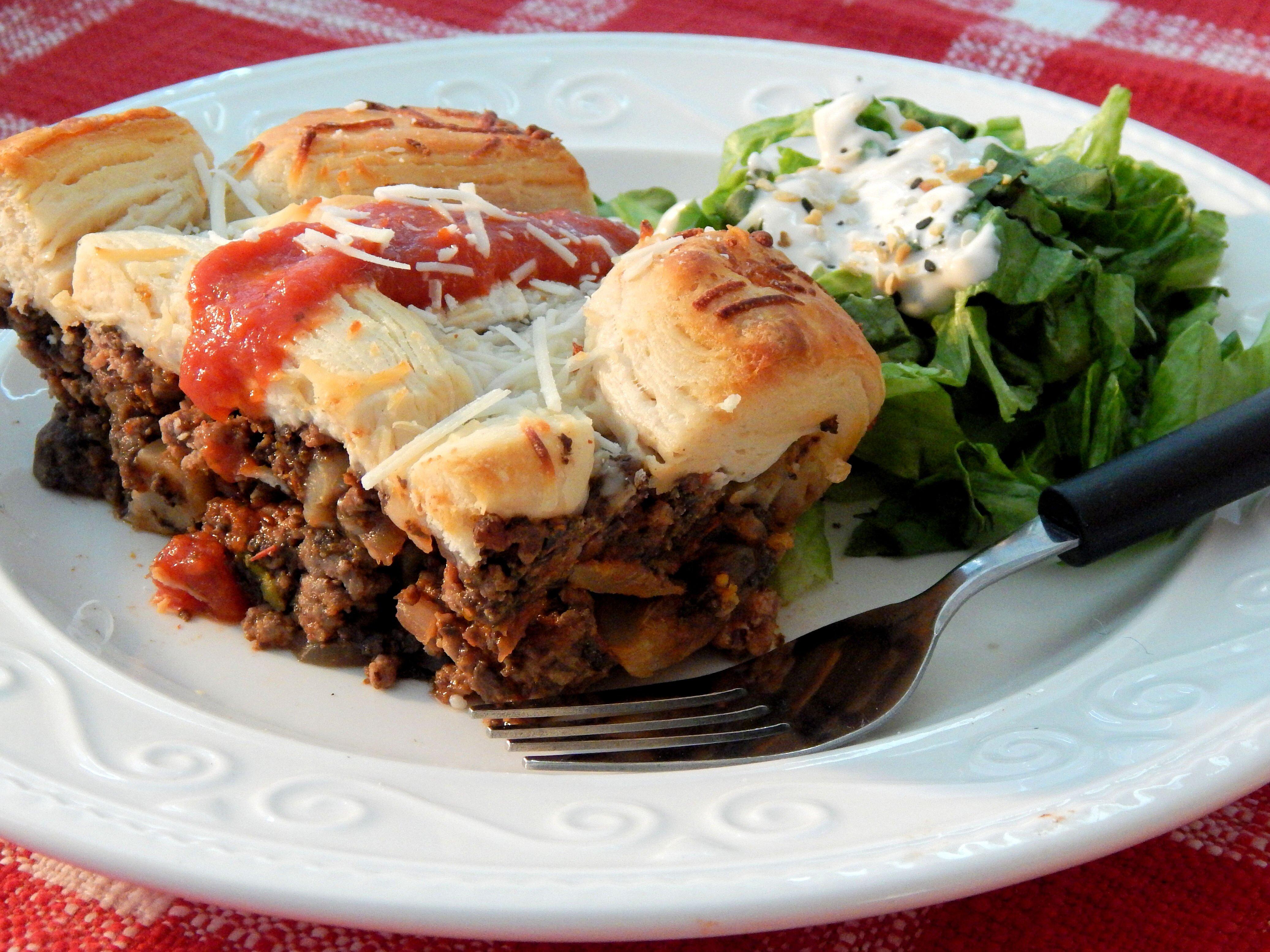 easy upside down pizza casserole recipe