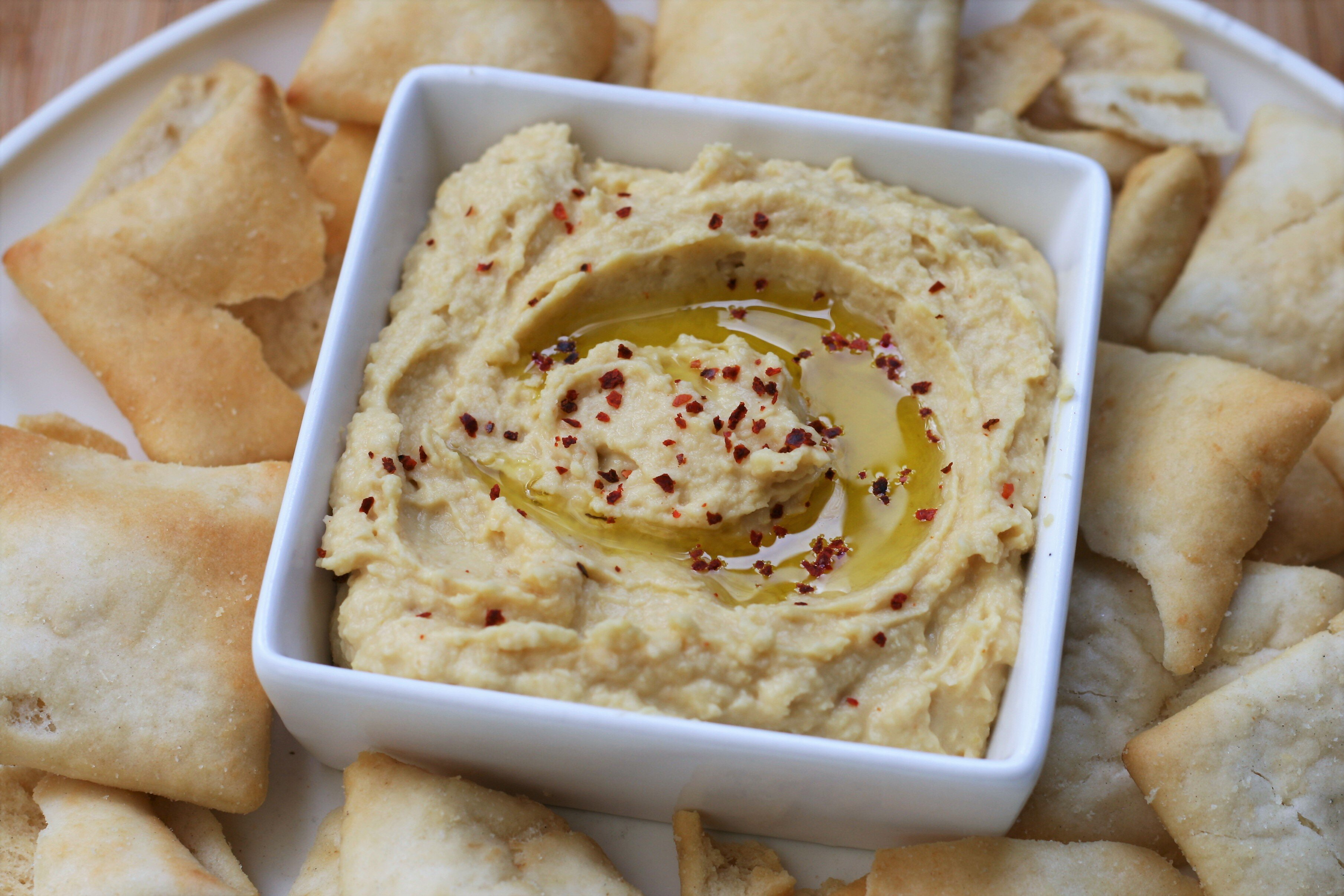 tahiniless hummus recipe