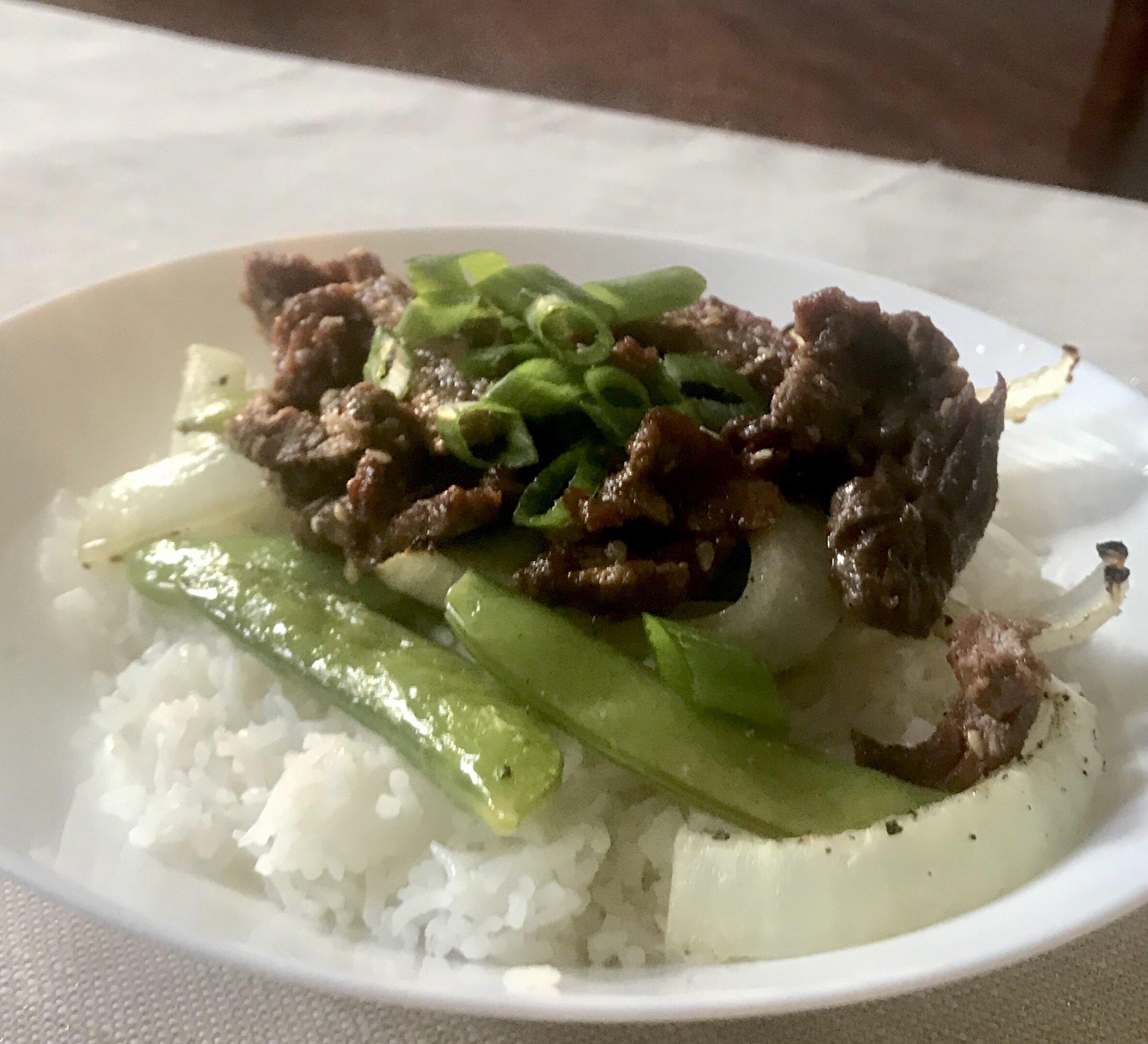easy sheet pan beef bulgogi