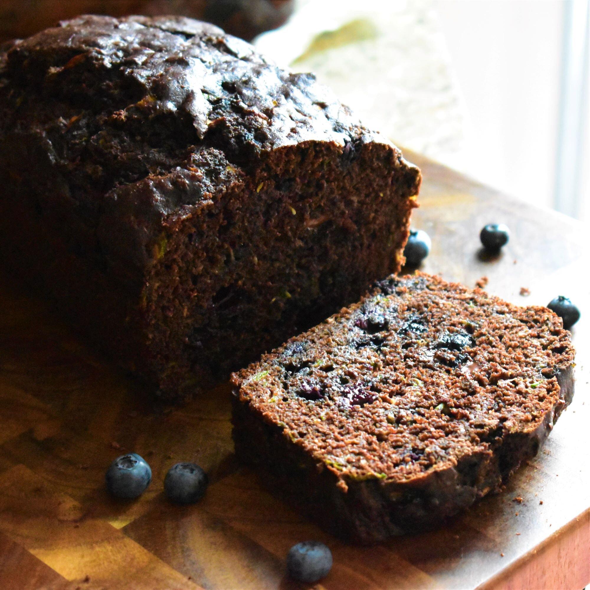 chocolate blueberry zucchini bread recipe