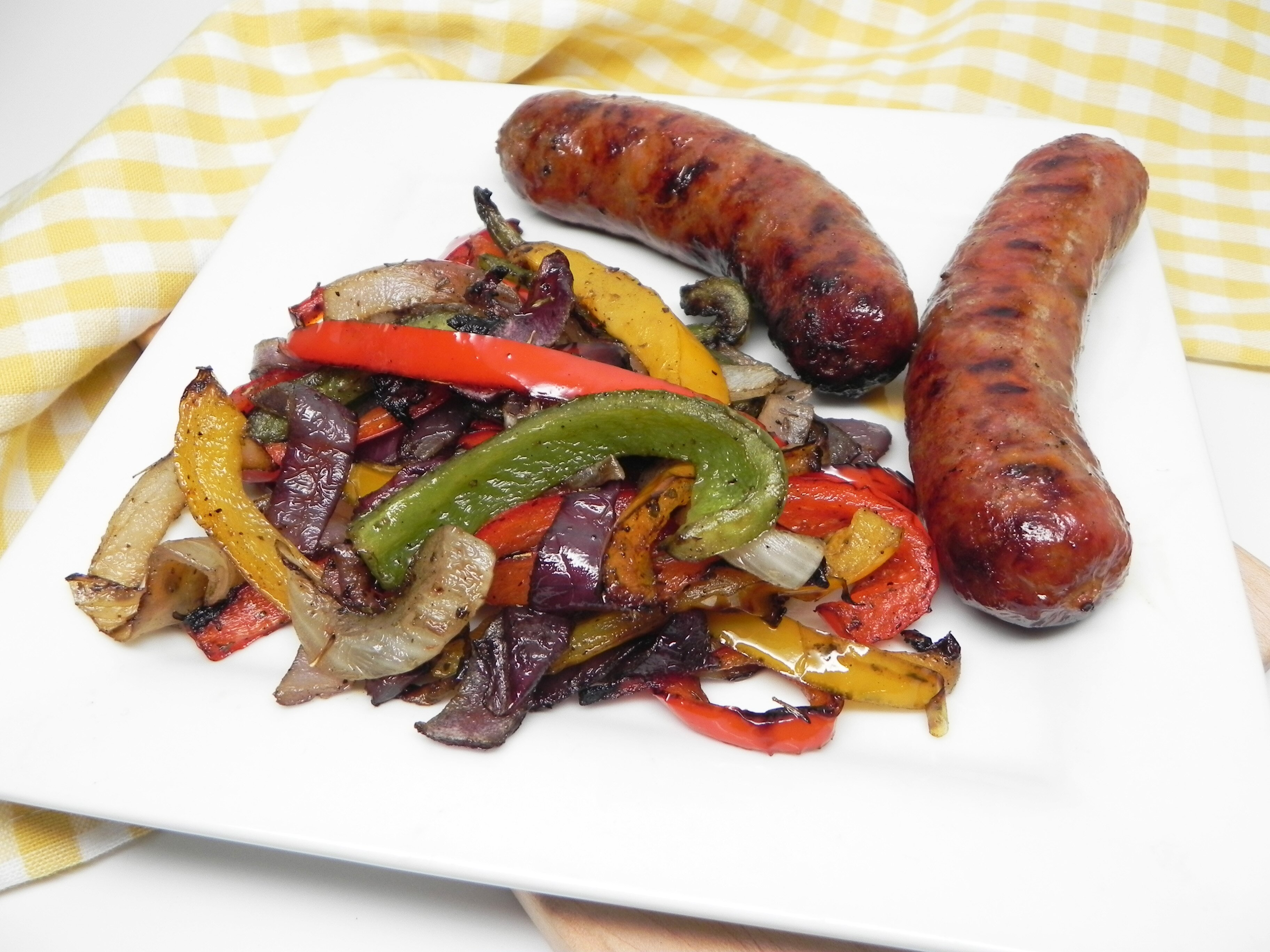 grilled italian sausage with peppers and onions