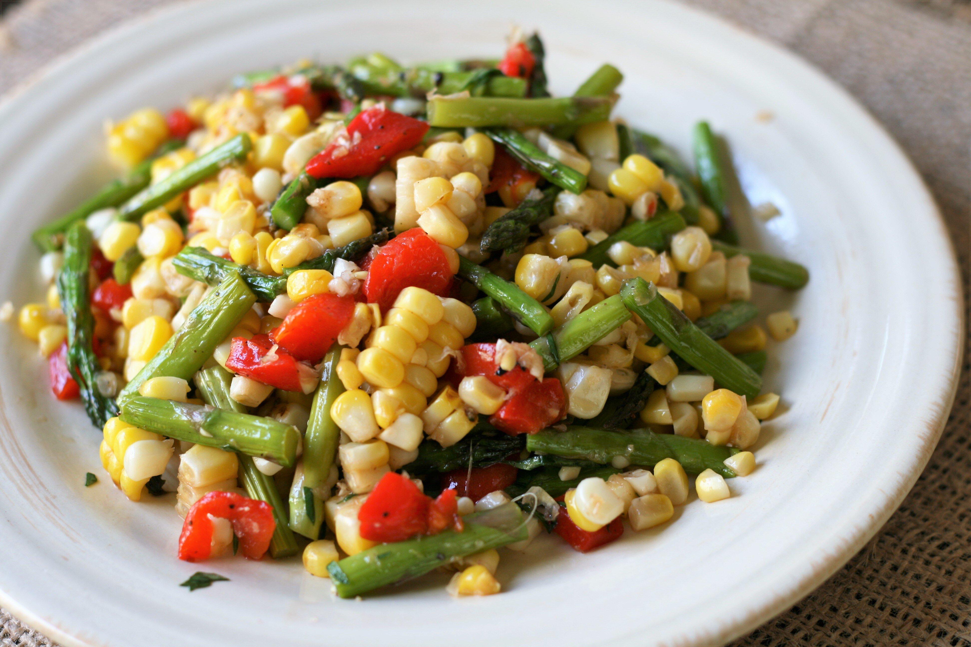 summer corn salad with asparagus recipe
