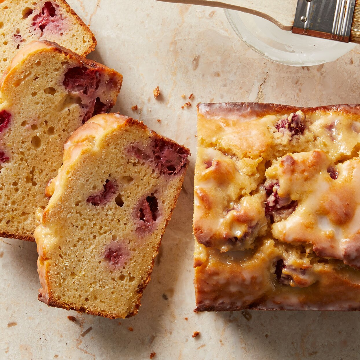 Lemon-Raspberry Ricotta Pound Cake