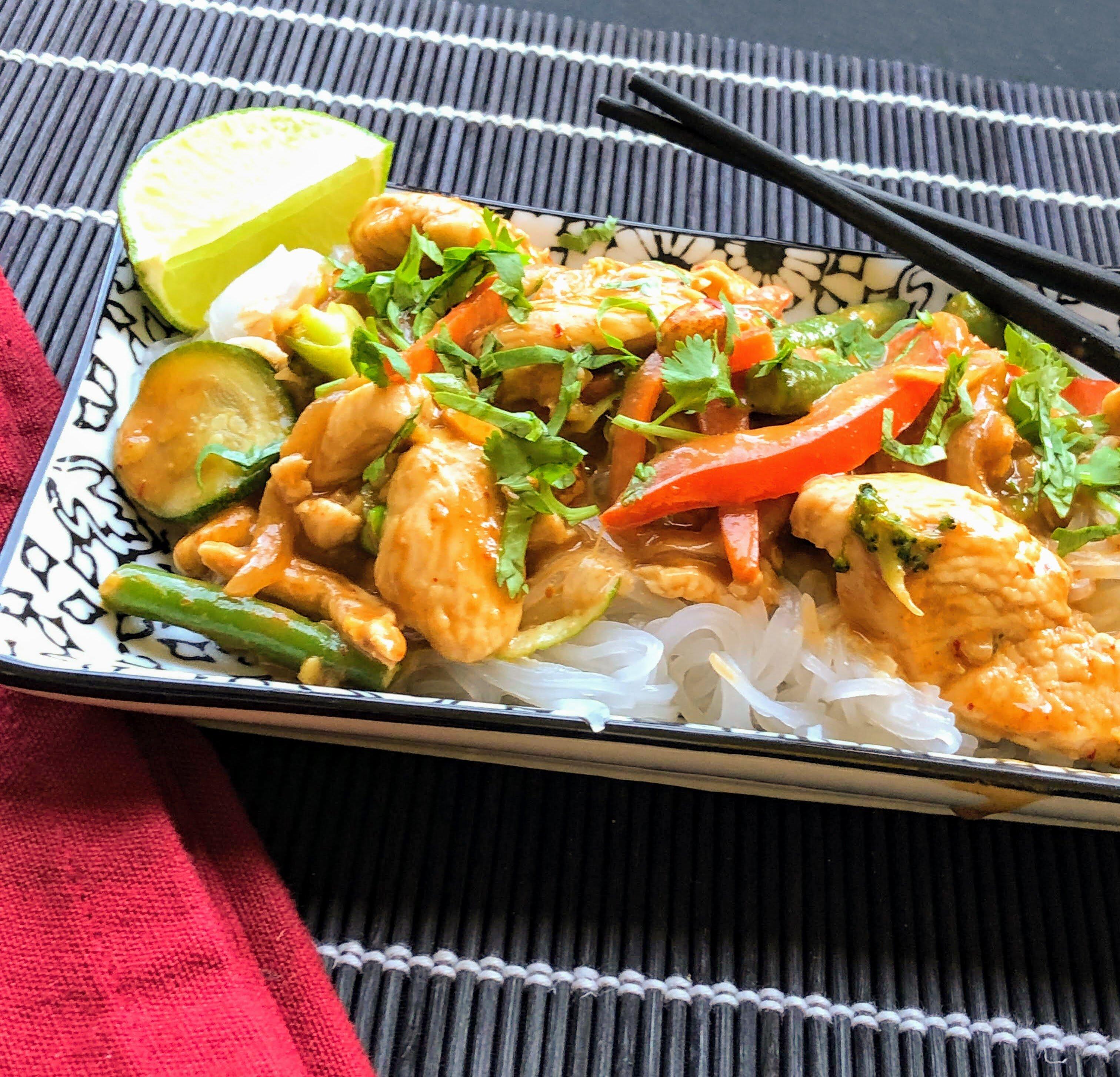 chicken stir fry with thai peanut sauce recipe