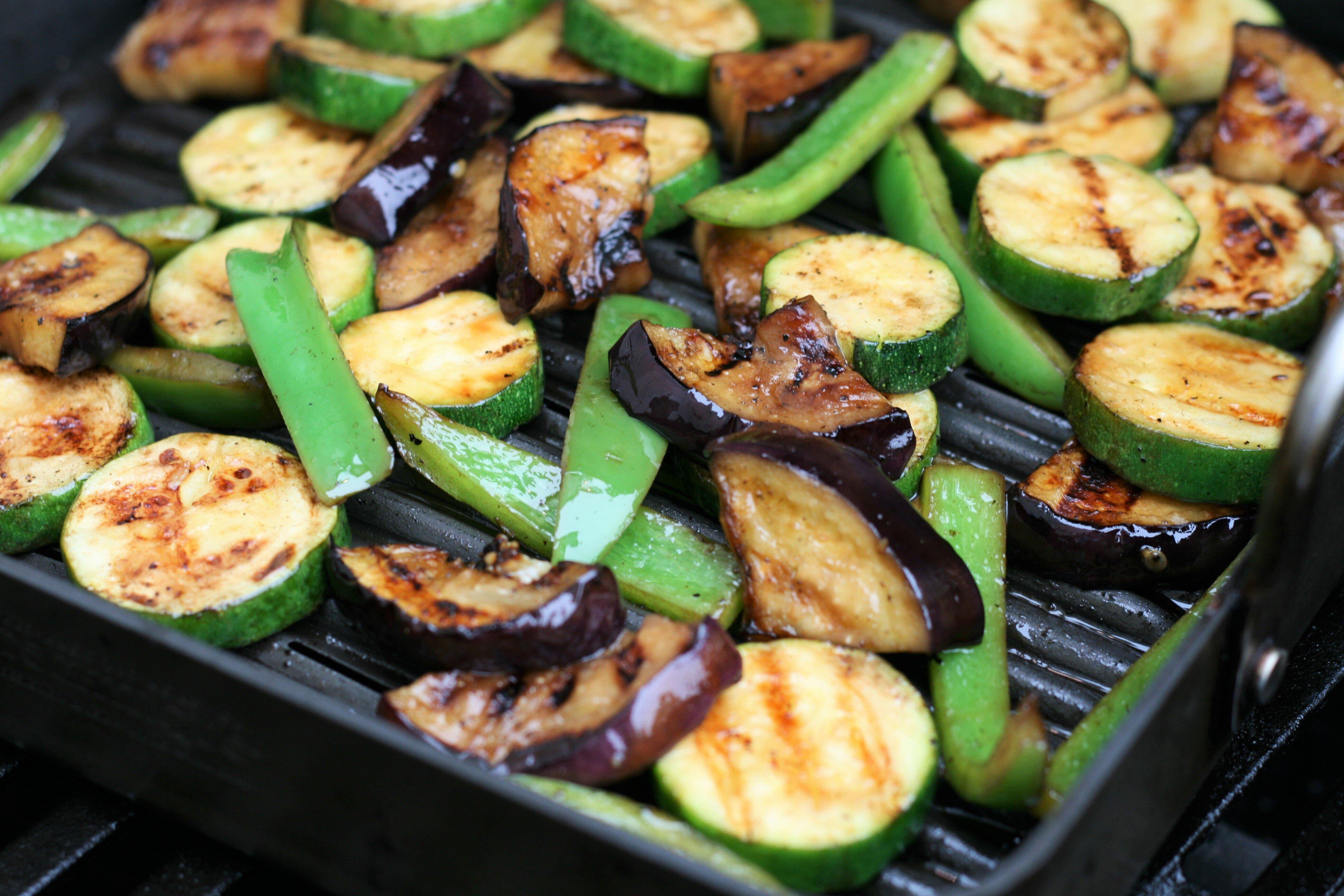 grilled vegetables with balsamic vinegar