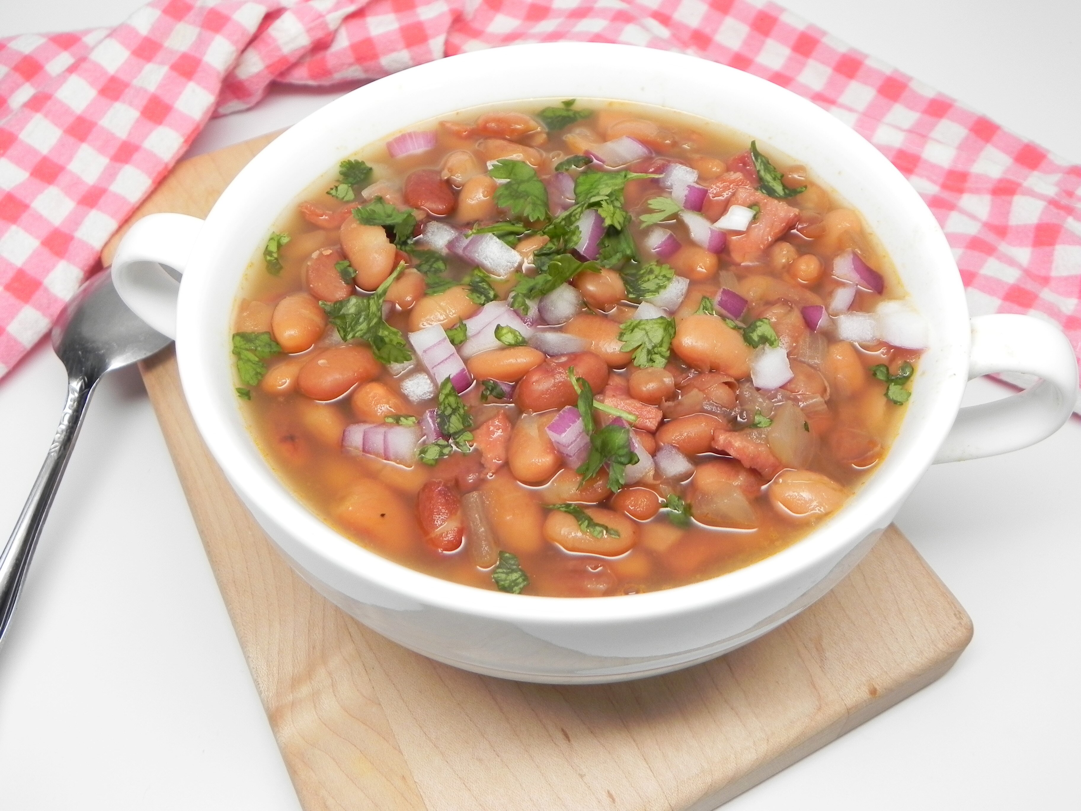 simple slow cooker pinto beans and ham