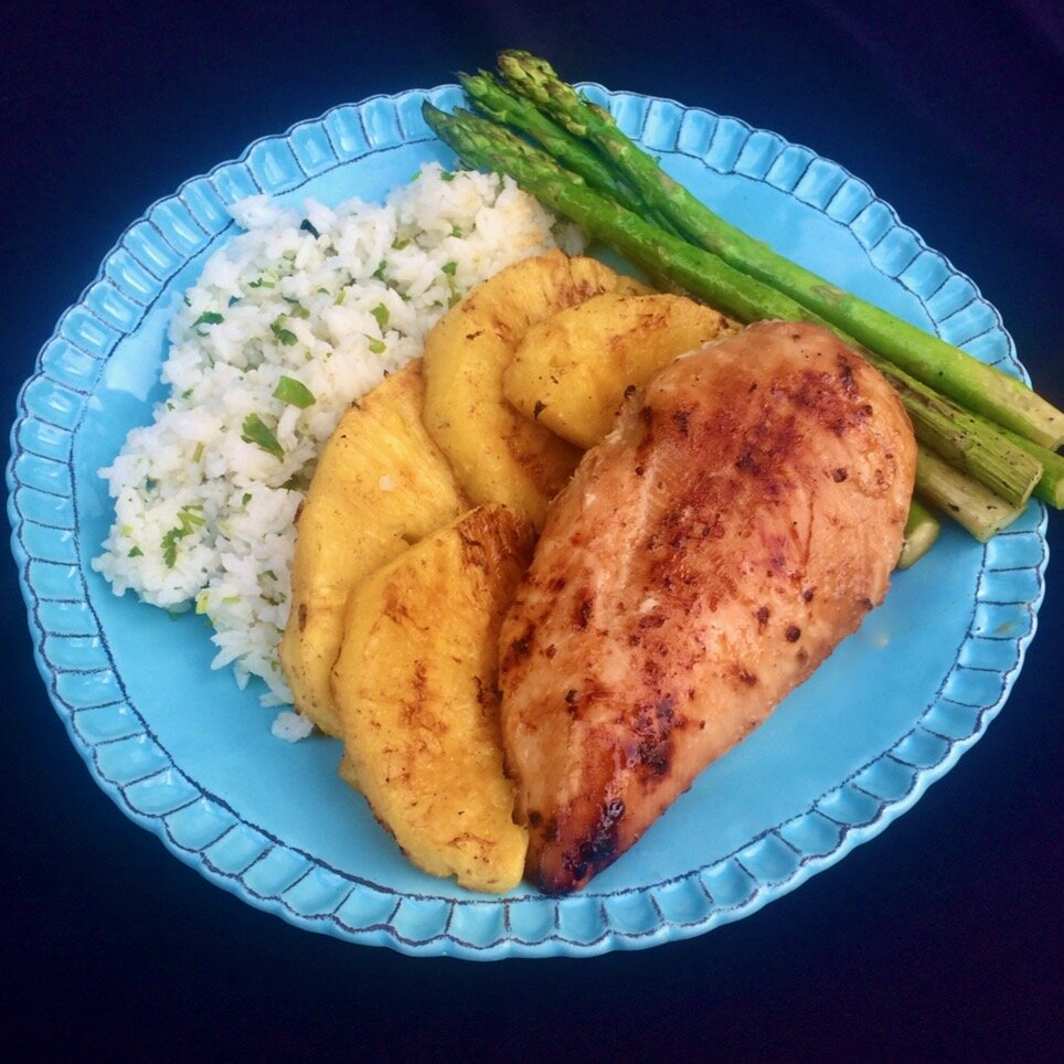 luau grilled chicken and pineapple recipe