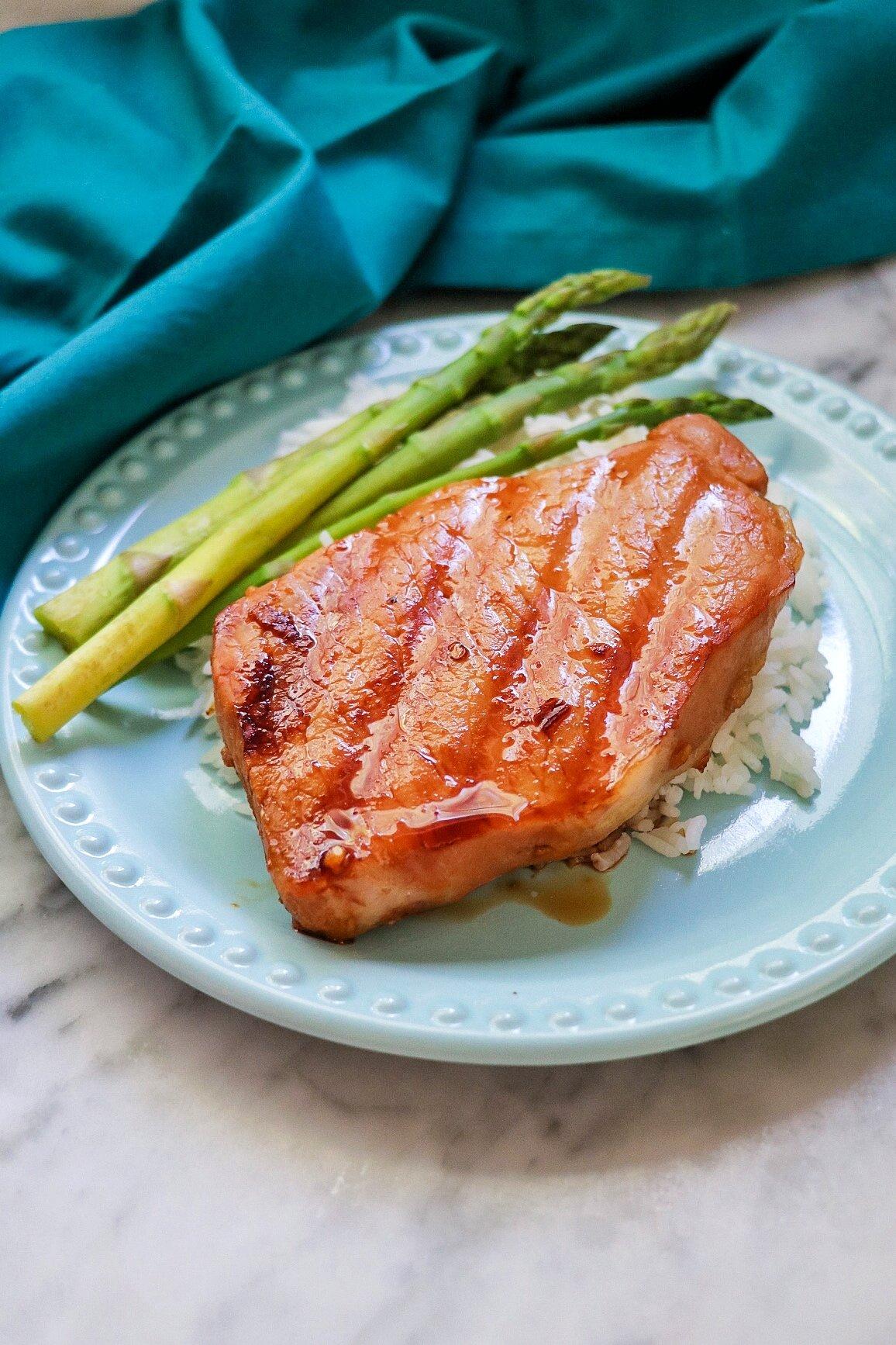honey soy grilled pork chops