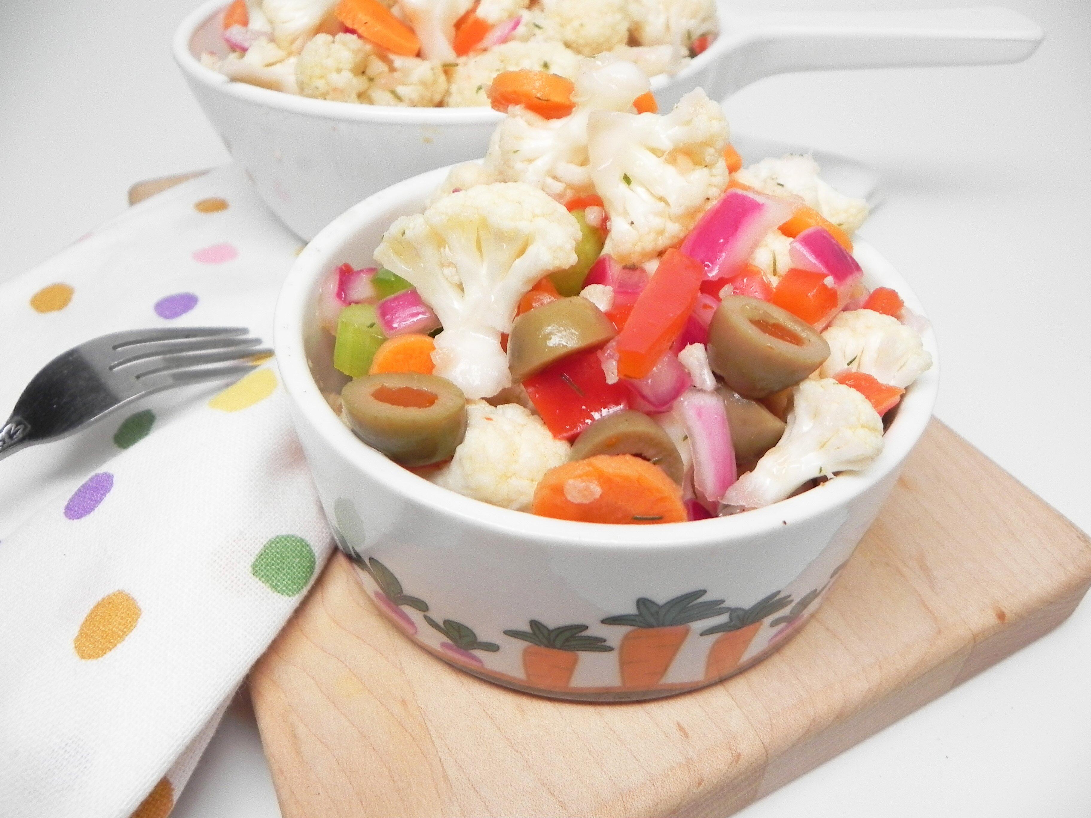 spicy marinated cauliflower salad