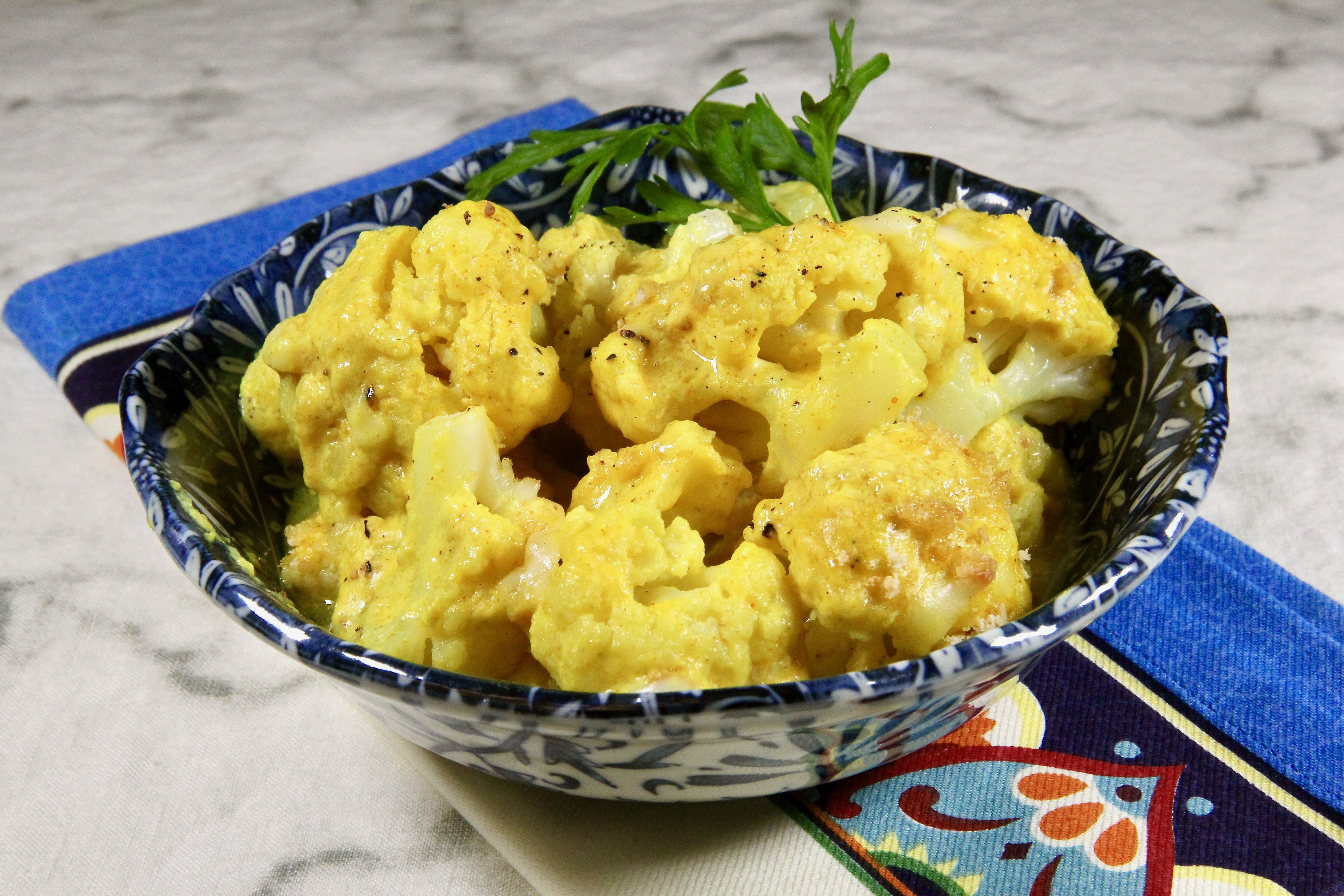 curried gruyere cauliflower gratin
