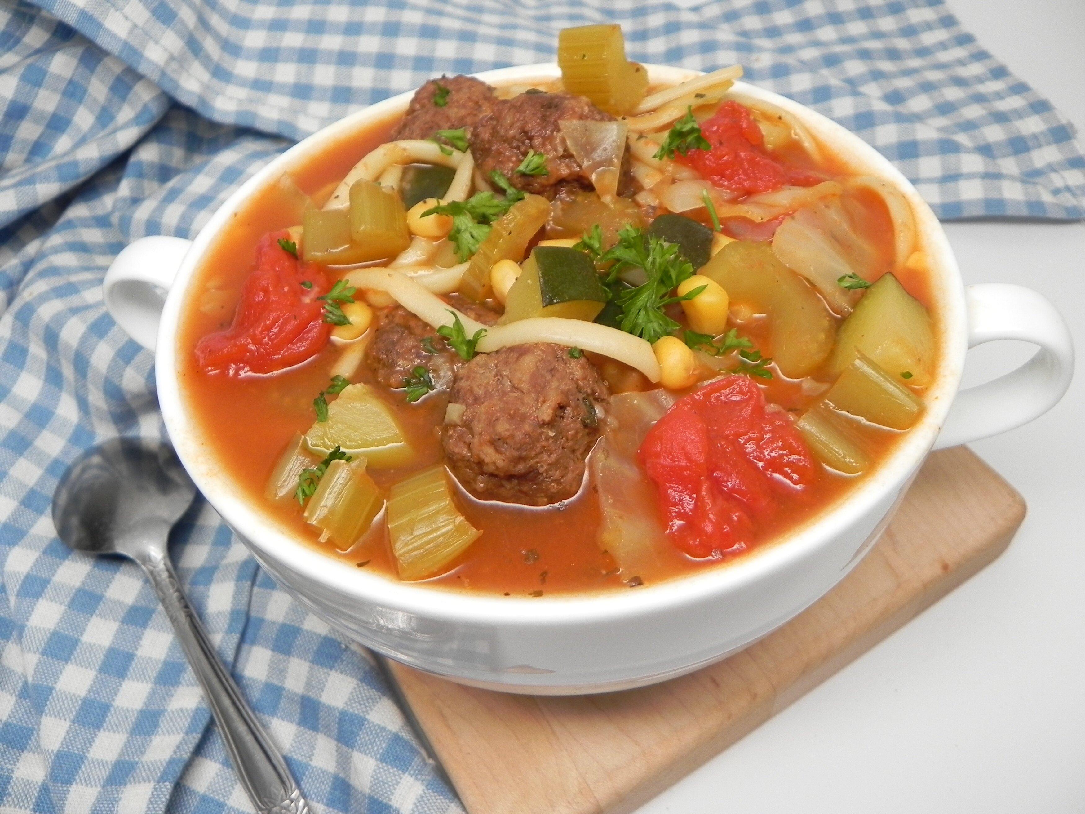 meatball minestrone soup recipe