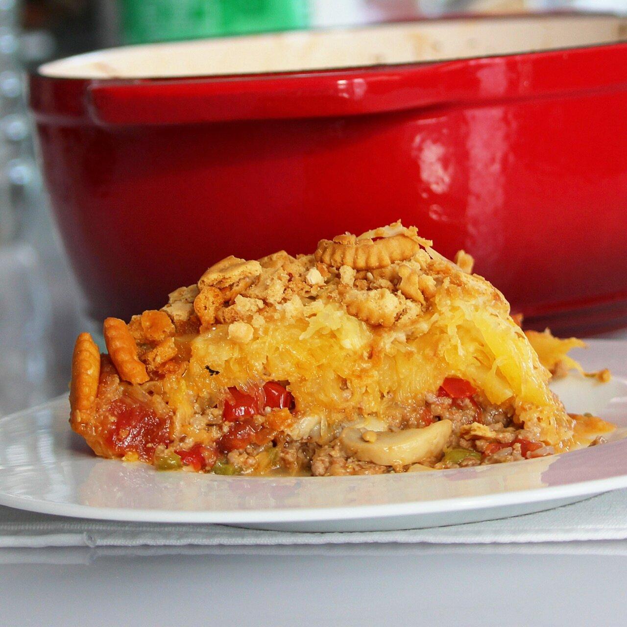spaghetti squash beef casserole recipe