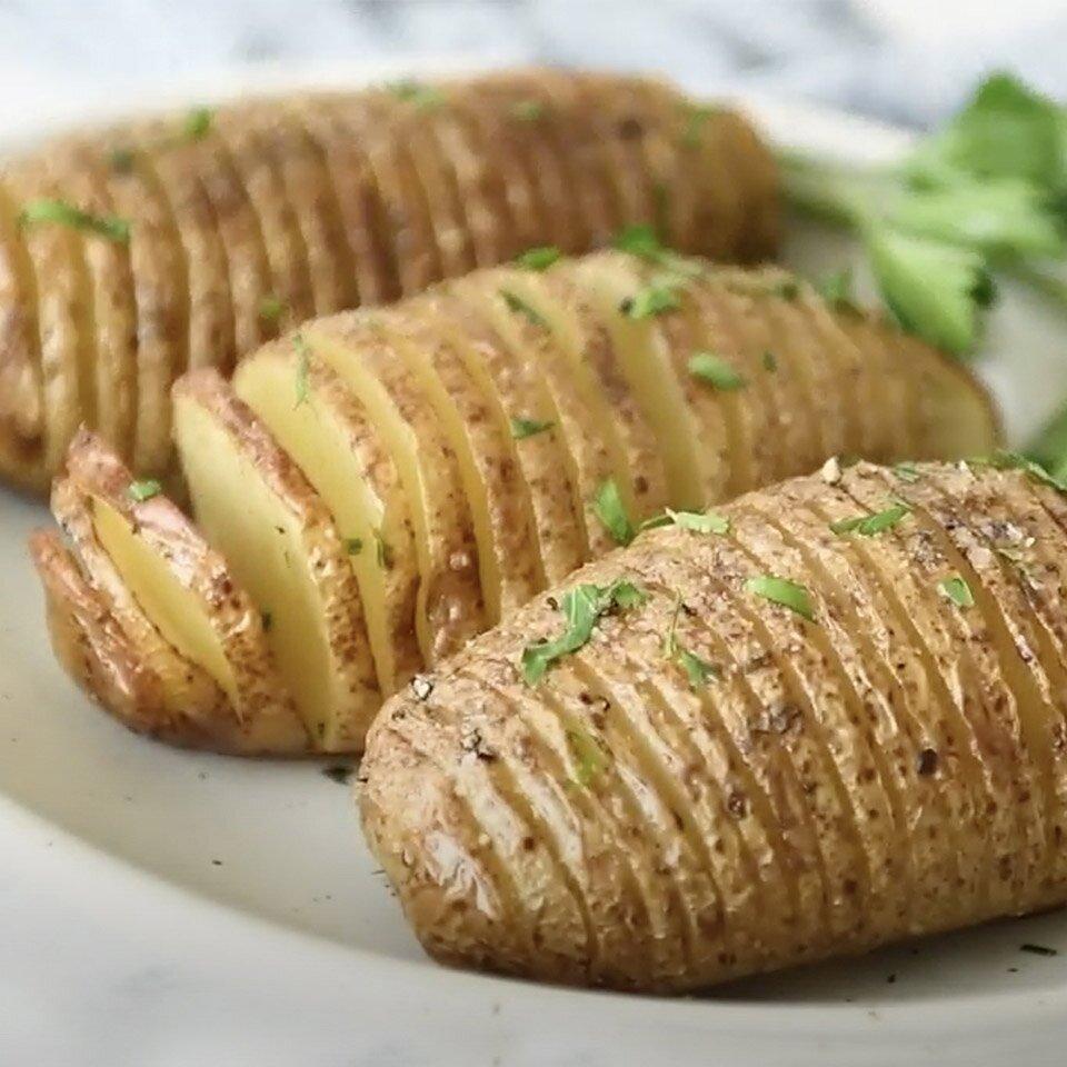 basic hasselback idaho potatoes