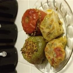 middle eastern style dolma stuffed vegetables