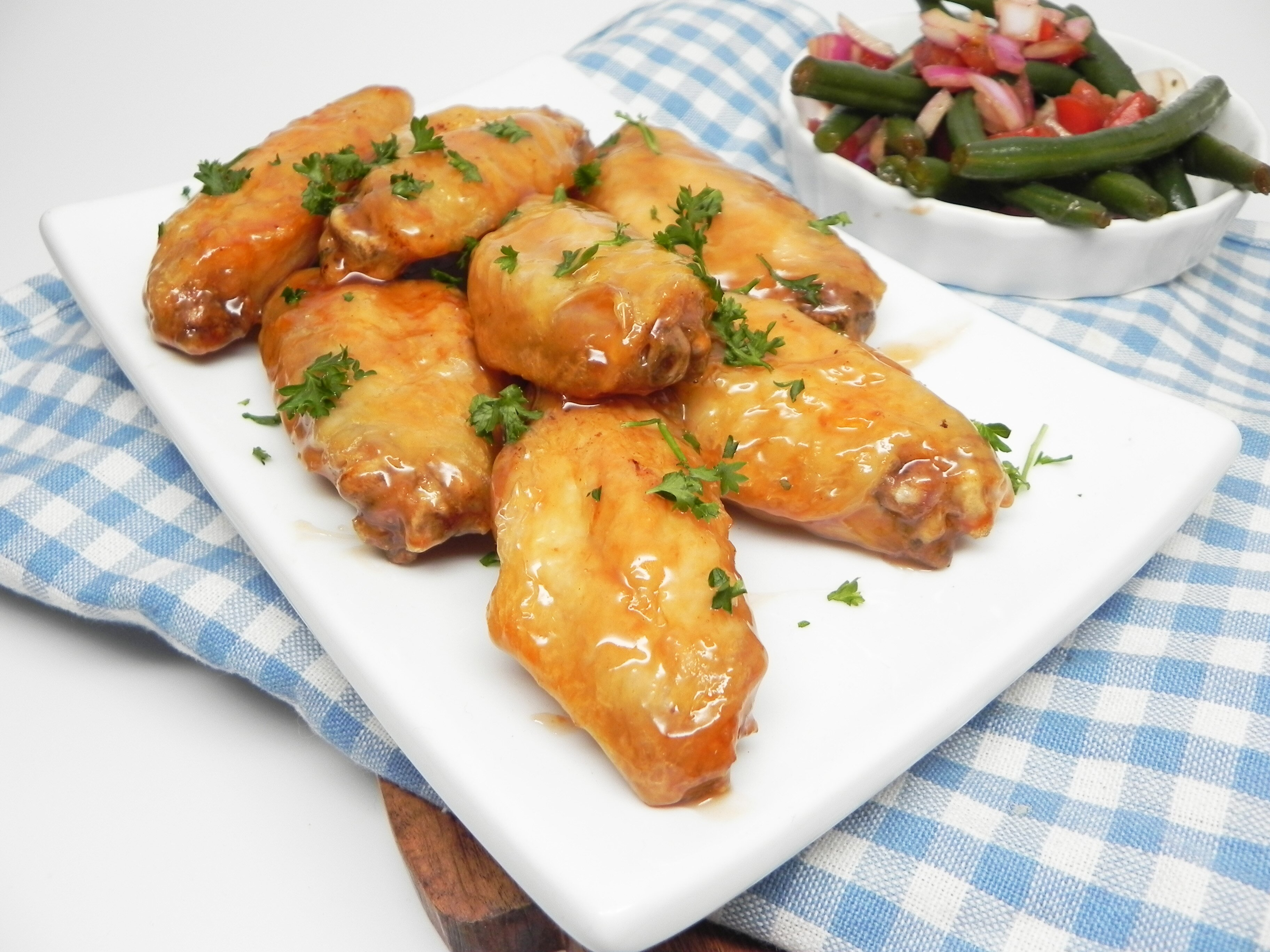 air fried sweet and sour chicken wings
