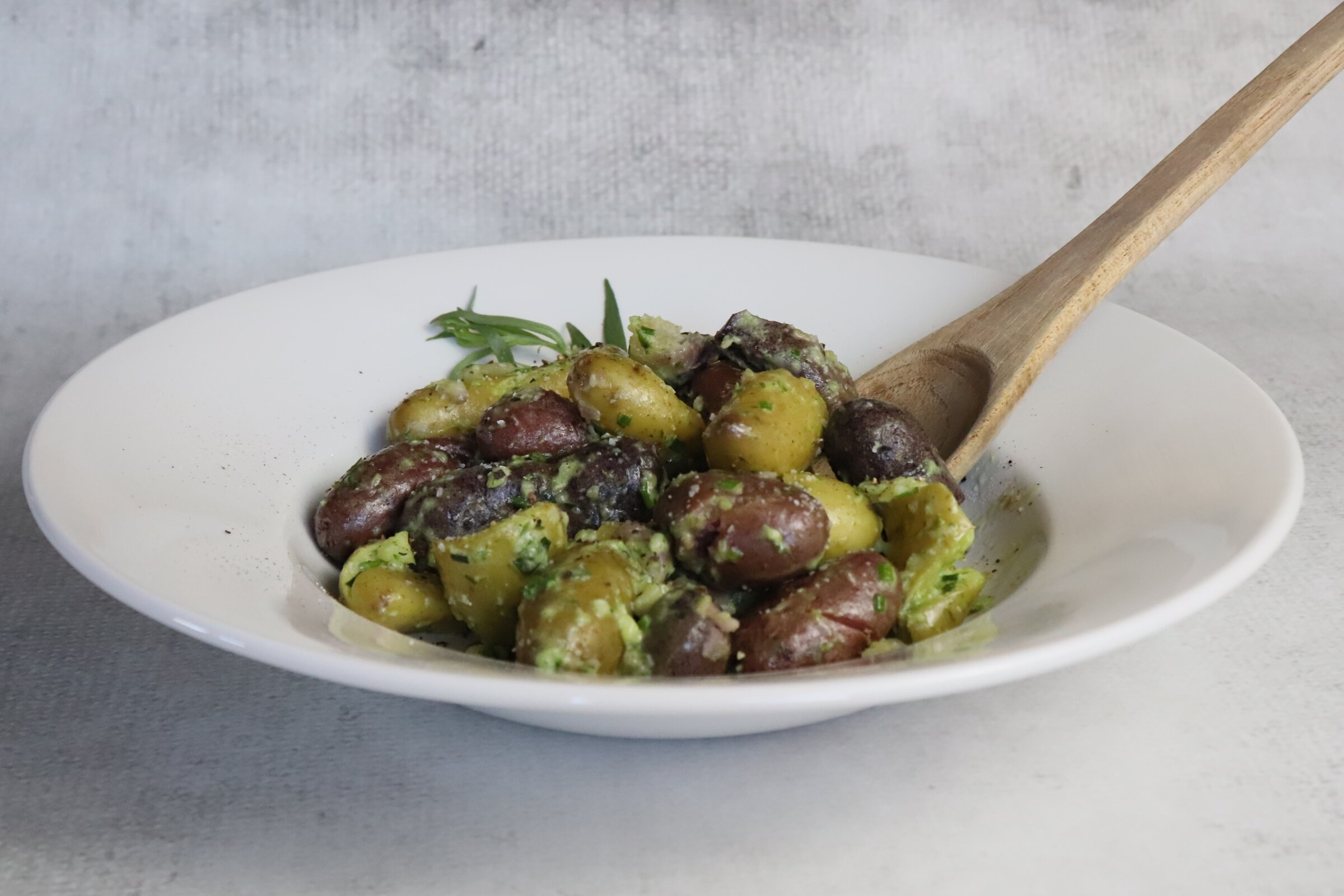 fingerling potatoes with tarragon chive butter recipe