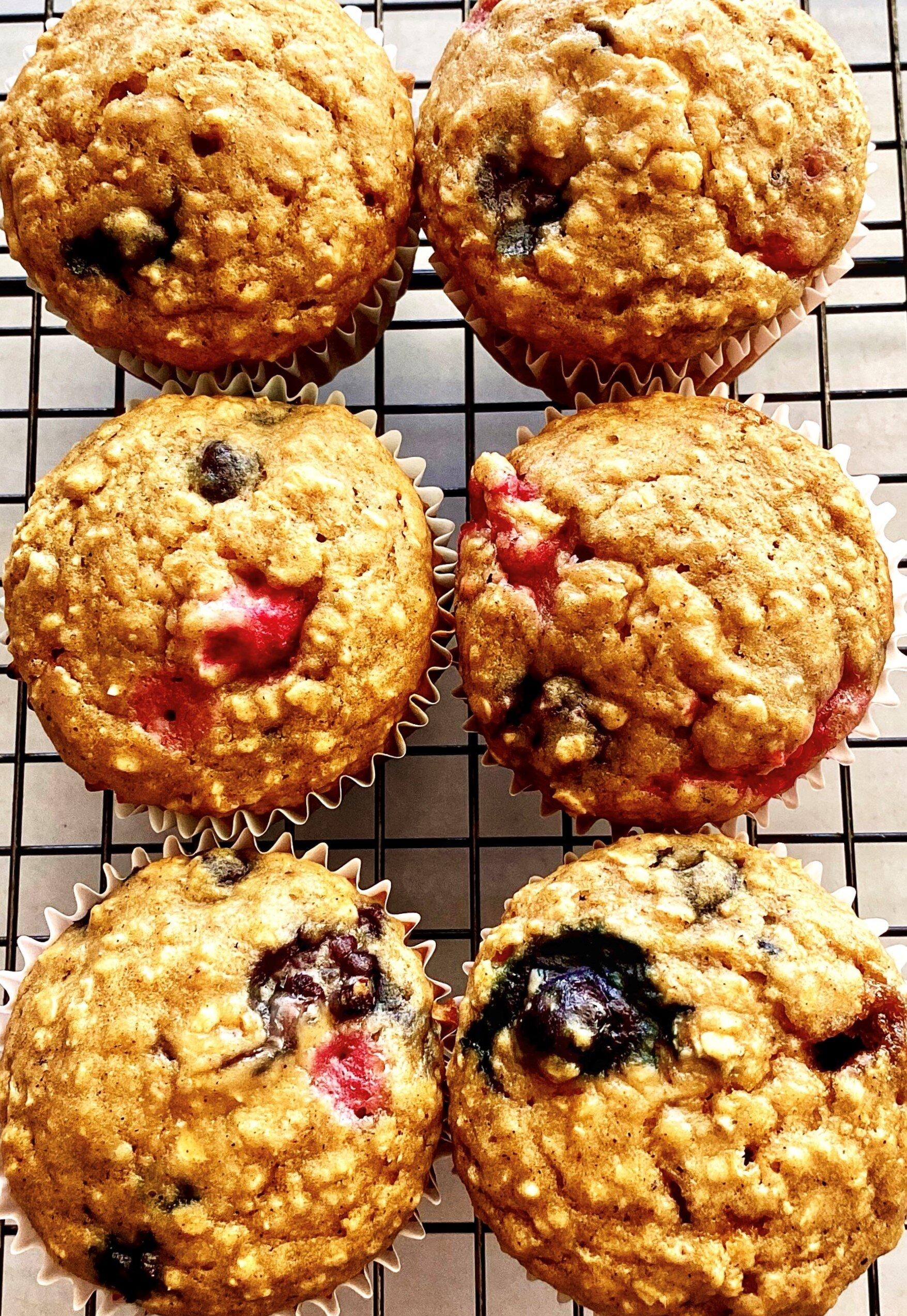 high fiber breakfast muffins recipe