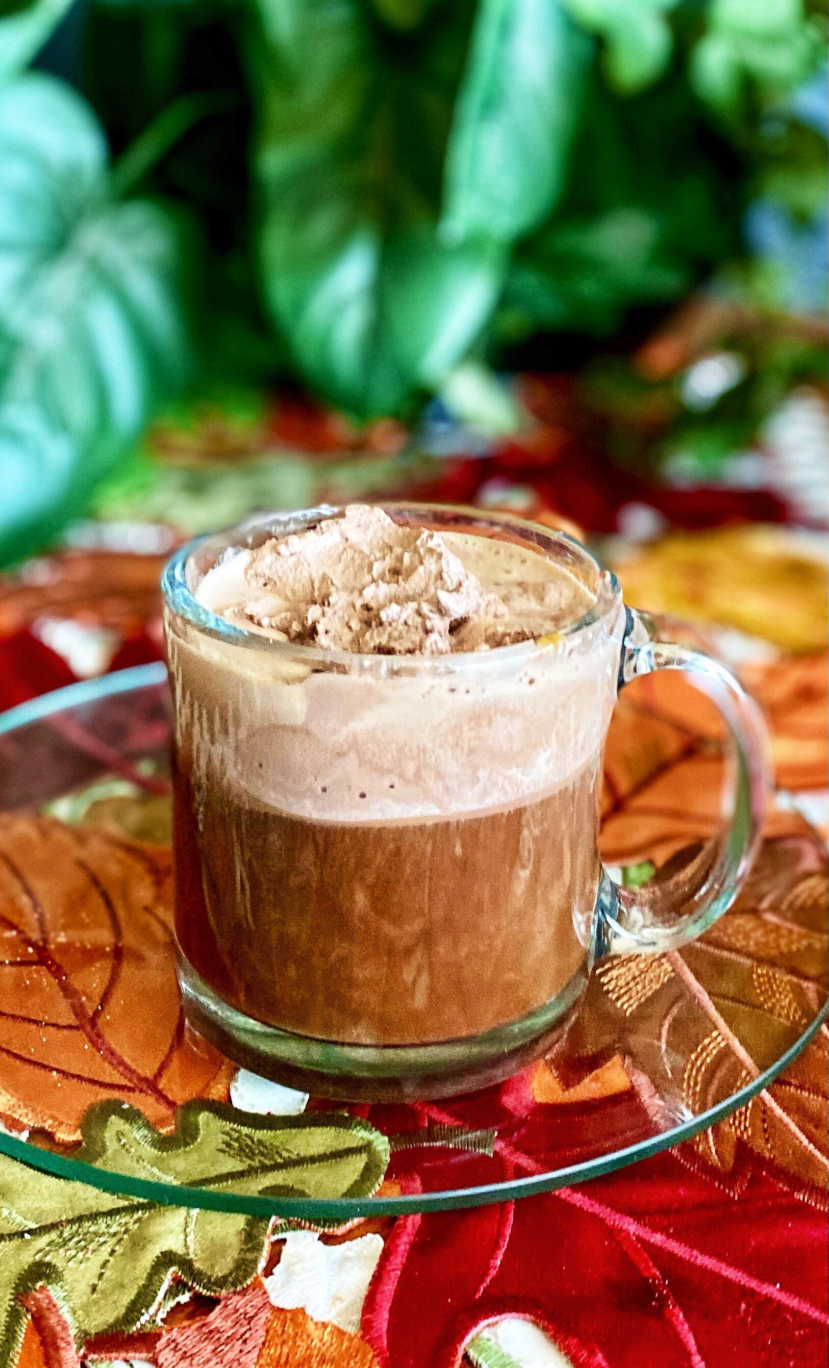 whipped hot chocolate coffee